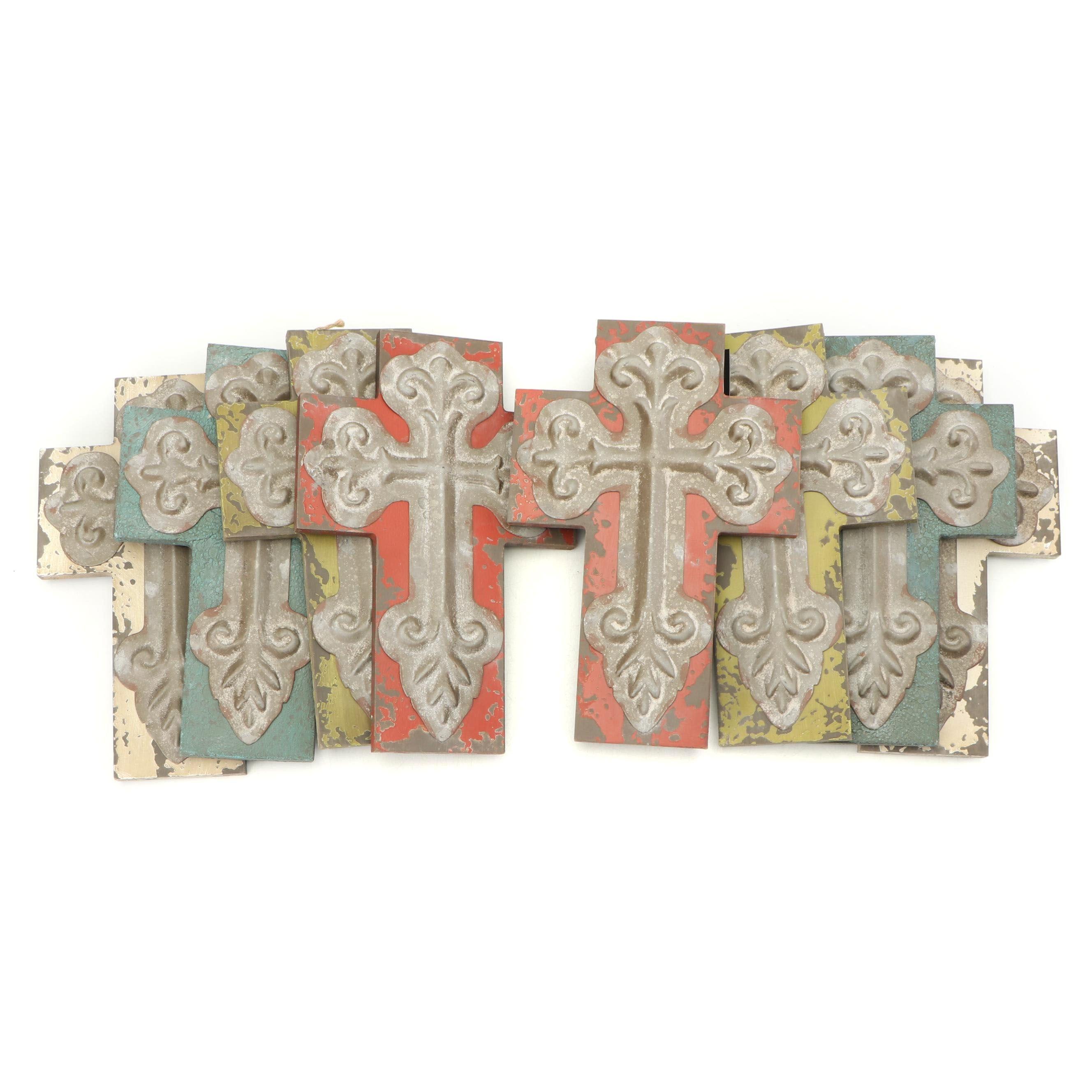 Decorative Wood and Metal Crosses