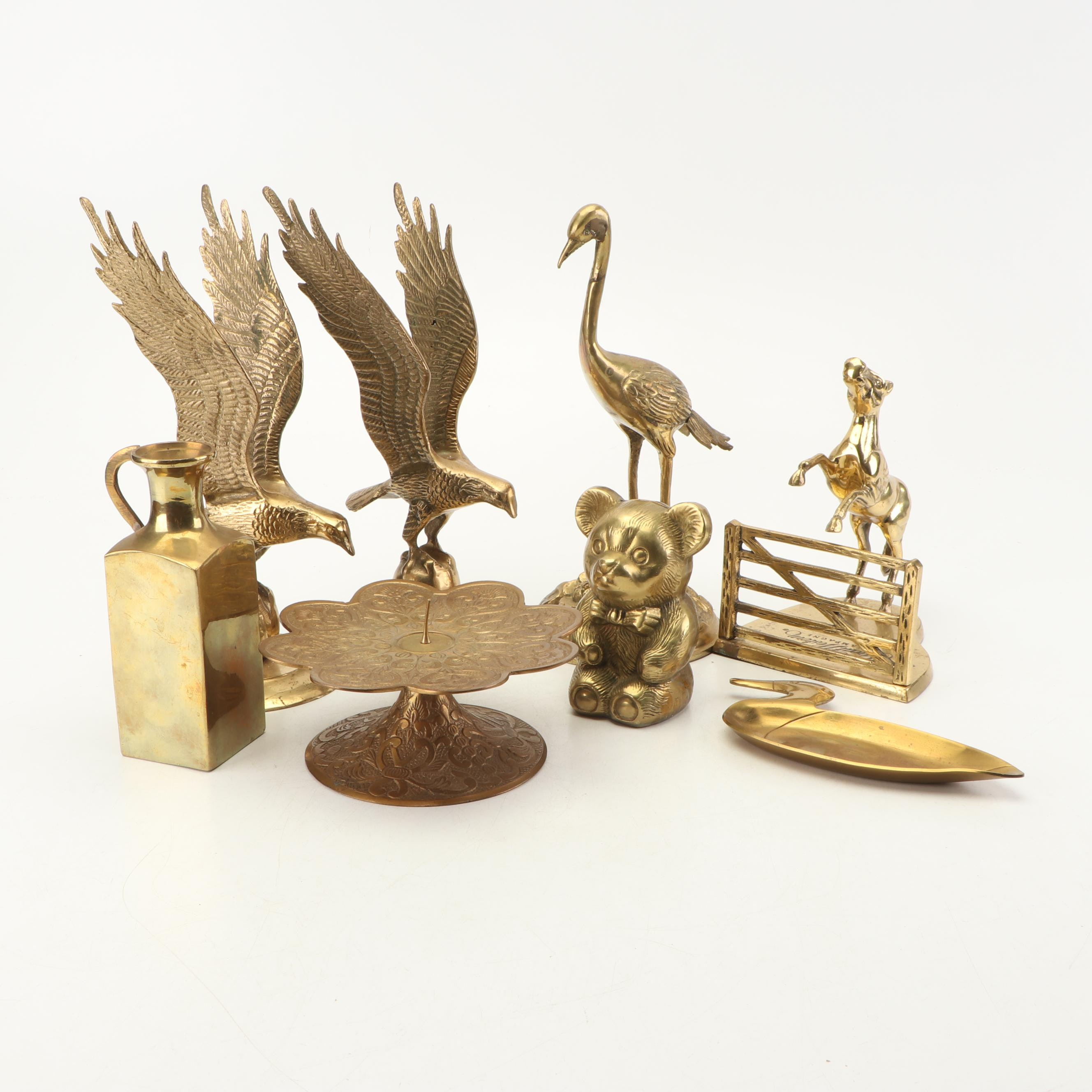 Collection of Brass Figurines and Decor