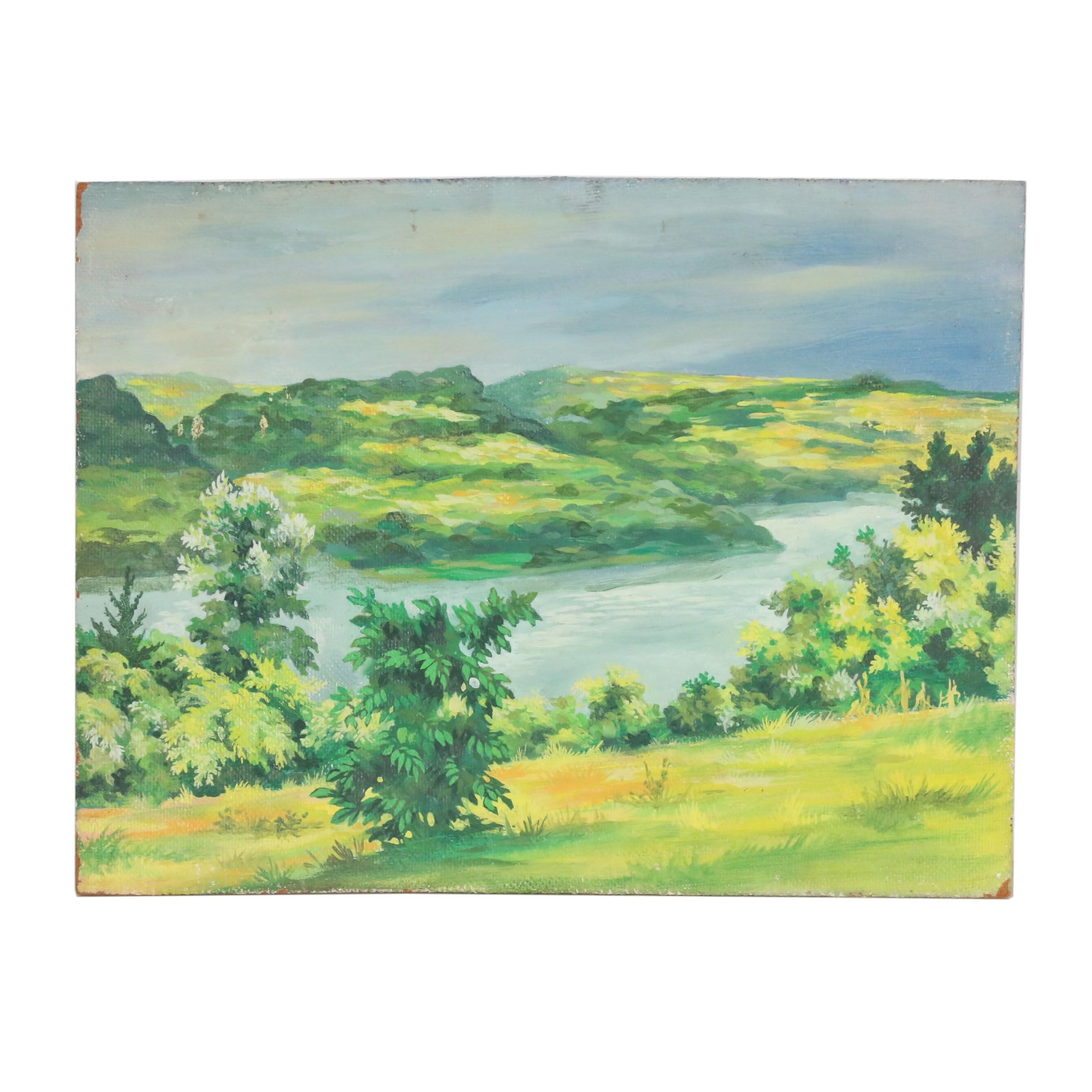 Frank Trapp Landscape Acrylic Painting