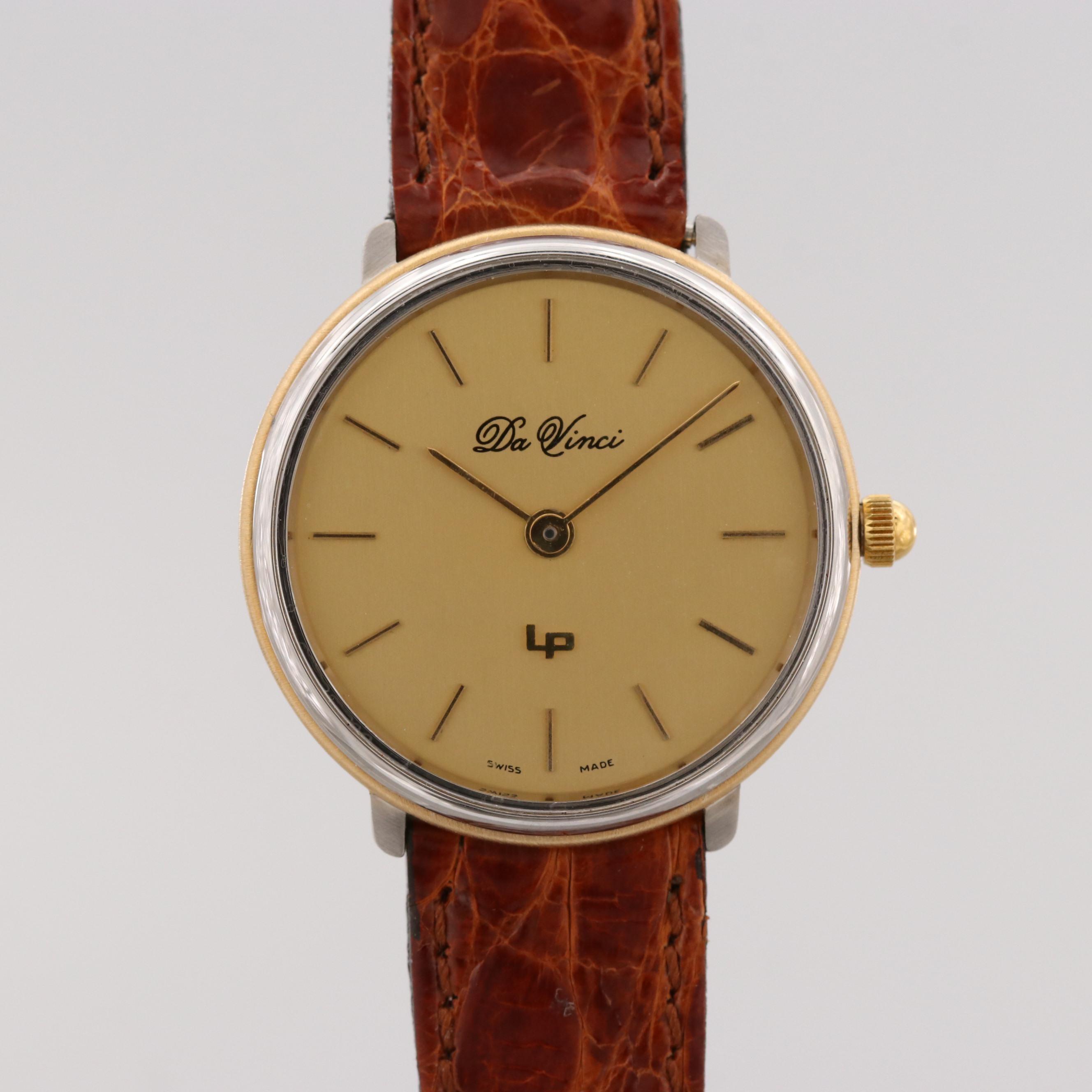 Vintage Lucien Piccard Da Vinci Two Tone Quartz Wristwatch