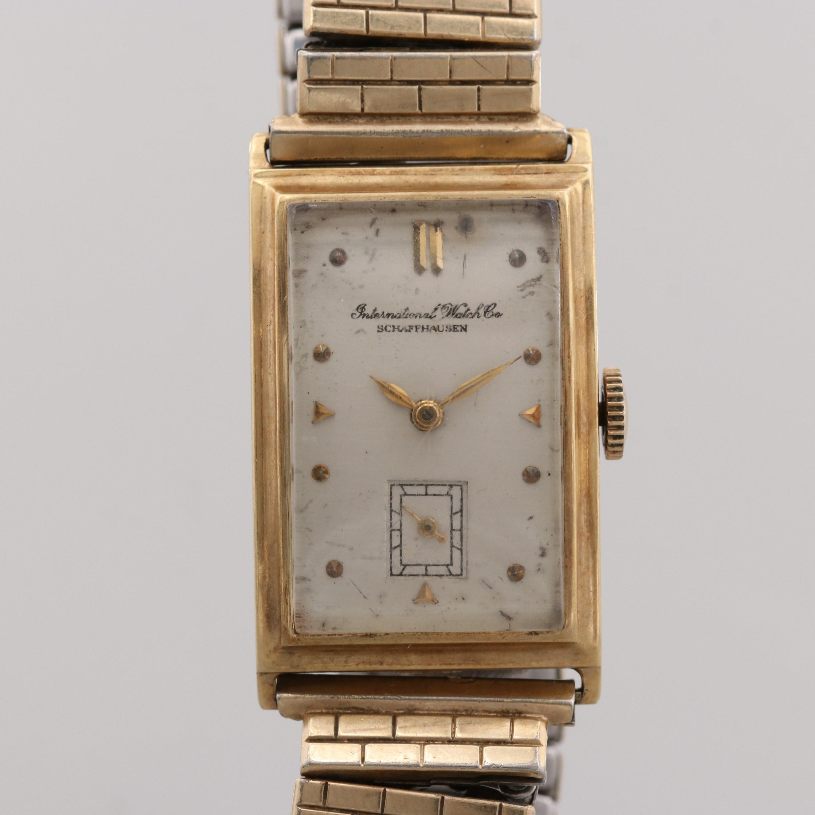 Vintage IWC 14K Yellow Gold Stem Wind Wristwatch