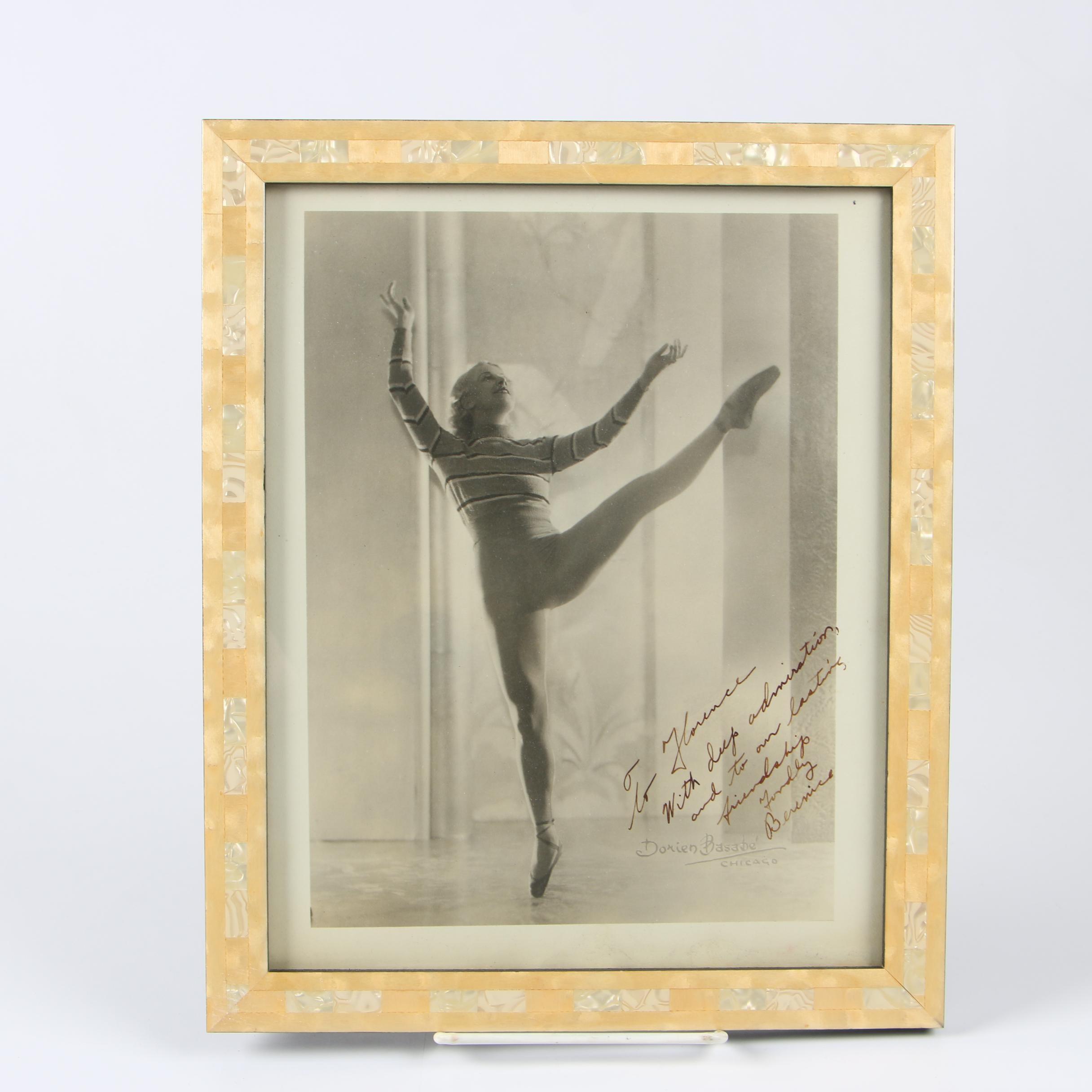 Dorien Basbabé Photograph of Ballet Dancer in Inlaid Frame