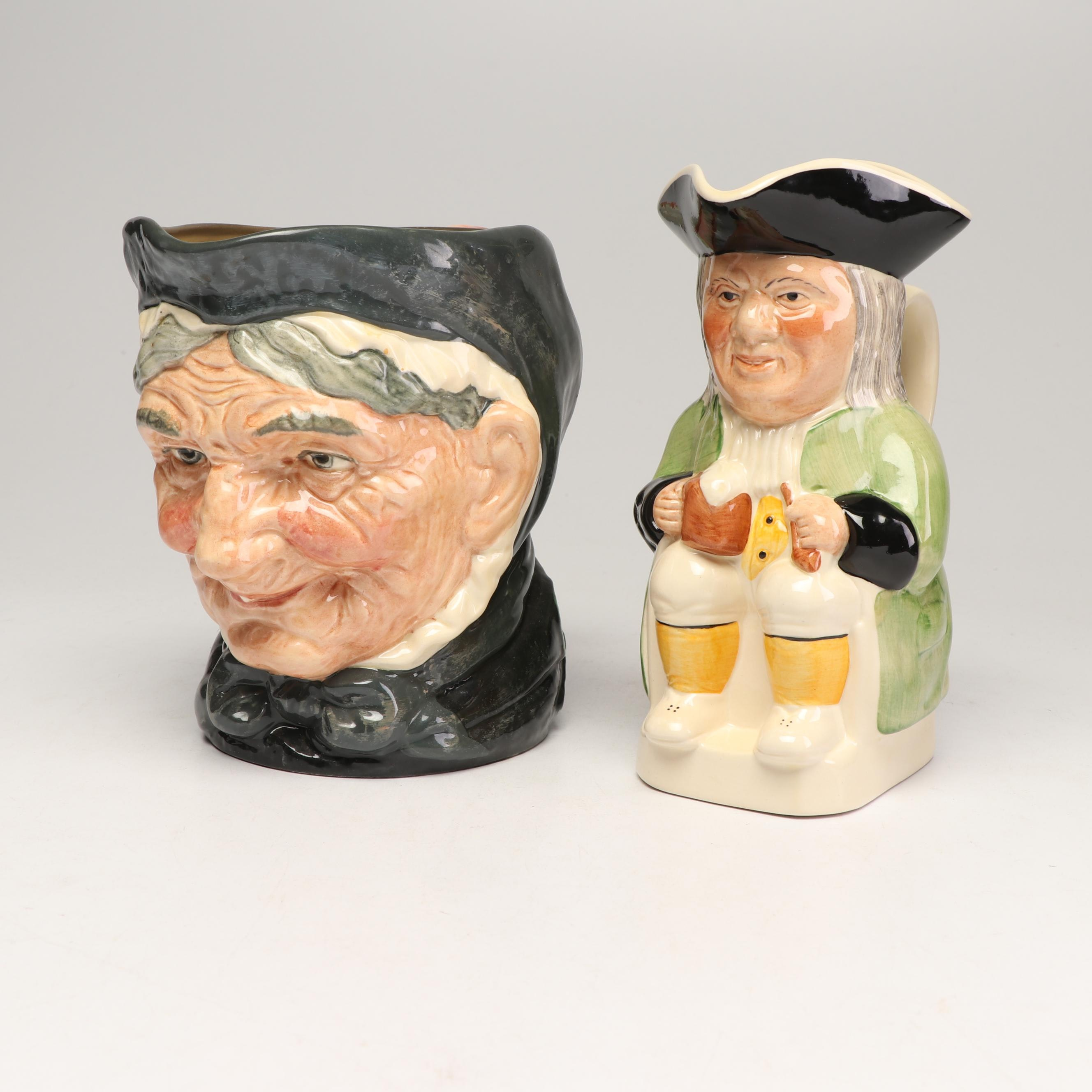"Royal Doulton ""Granny"" and Philpot Toby Jugs"