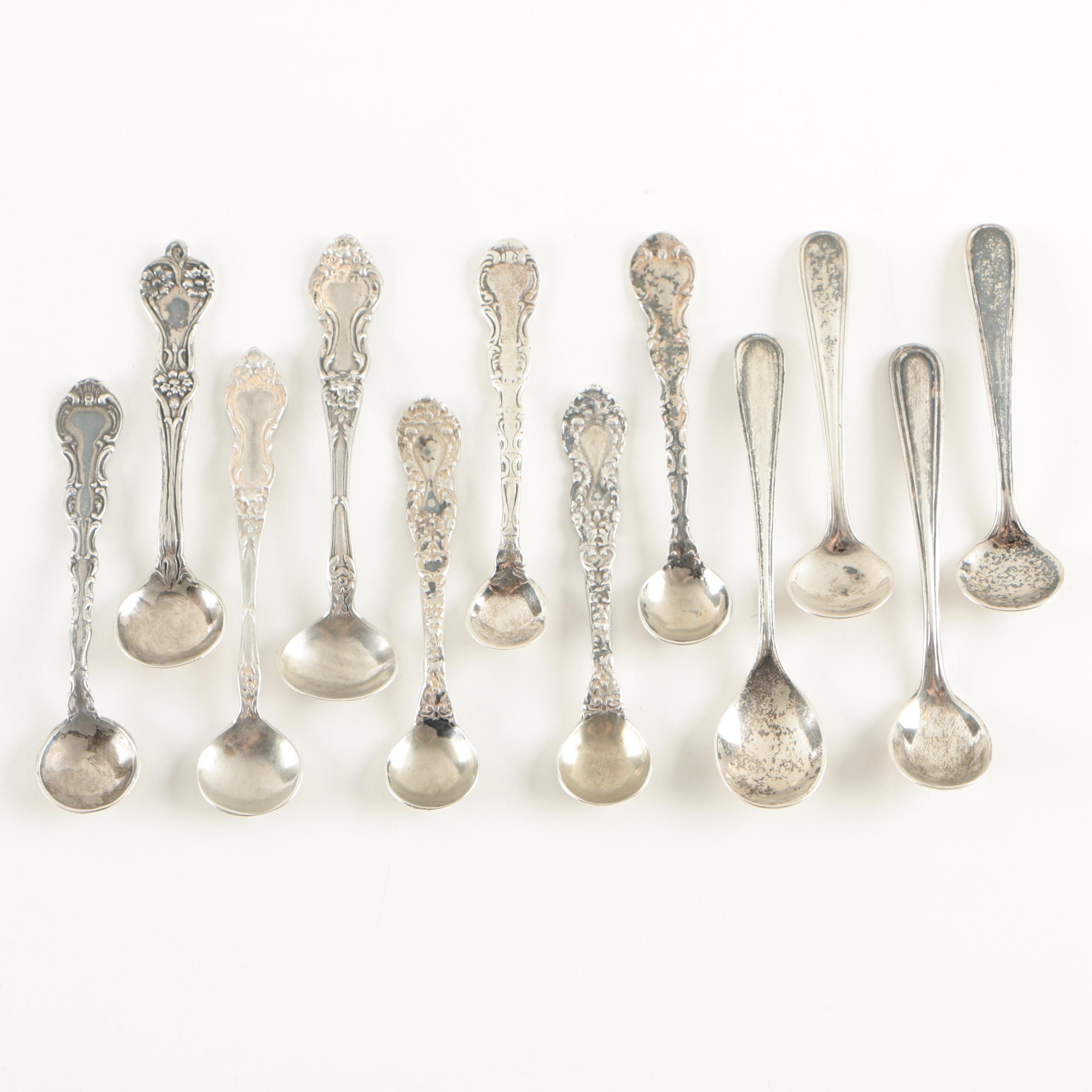 Sterling Silver Salt Spoons including Webster