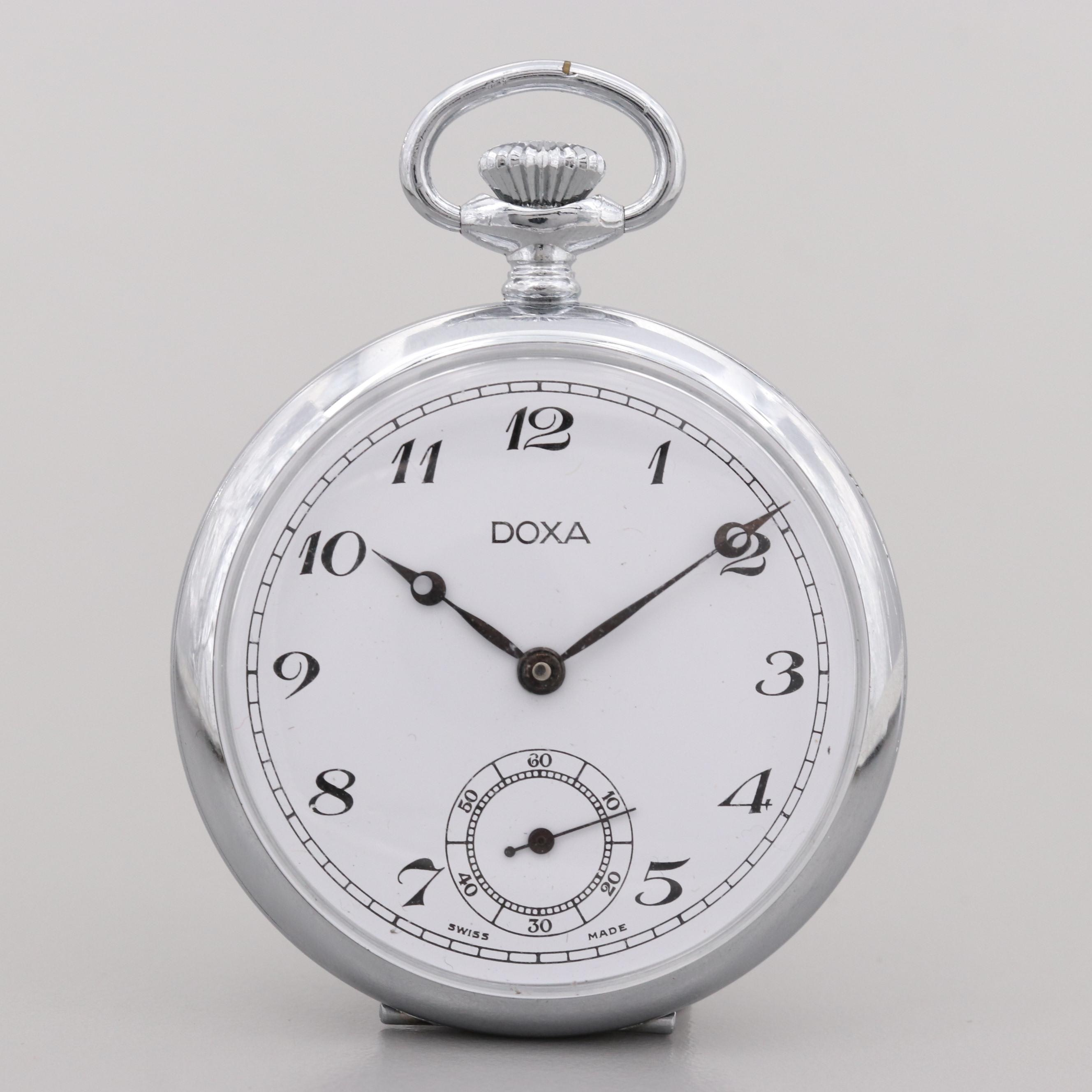 Vintage Doxa Open Face Pocket Watch