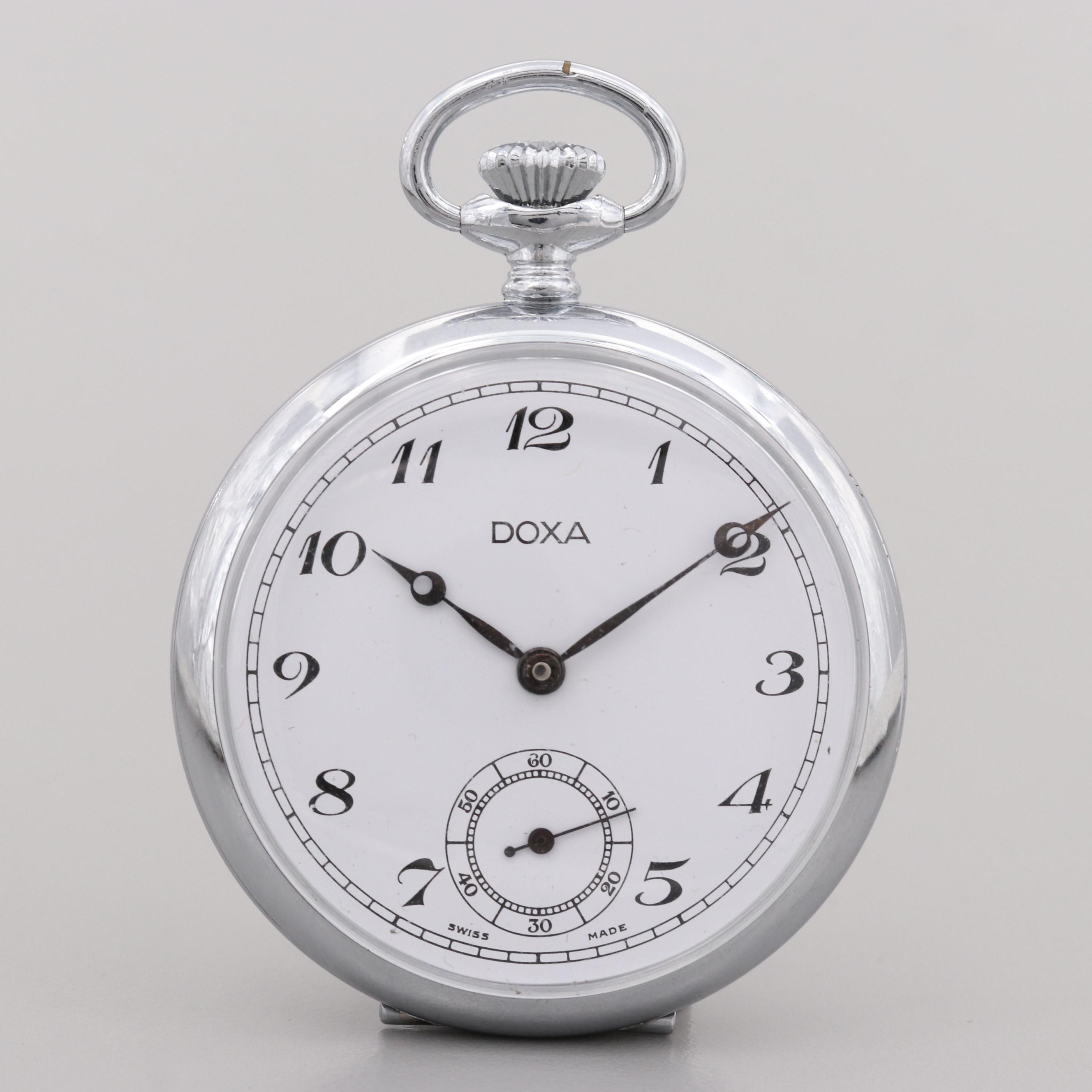 Vintage Doxa Open Face Pocket Watch