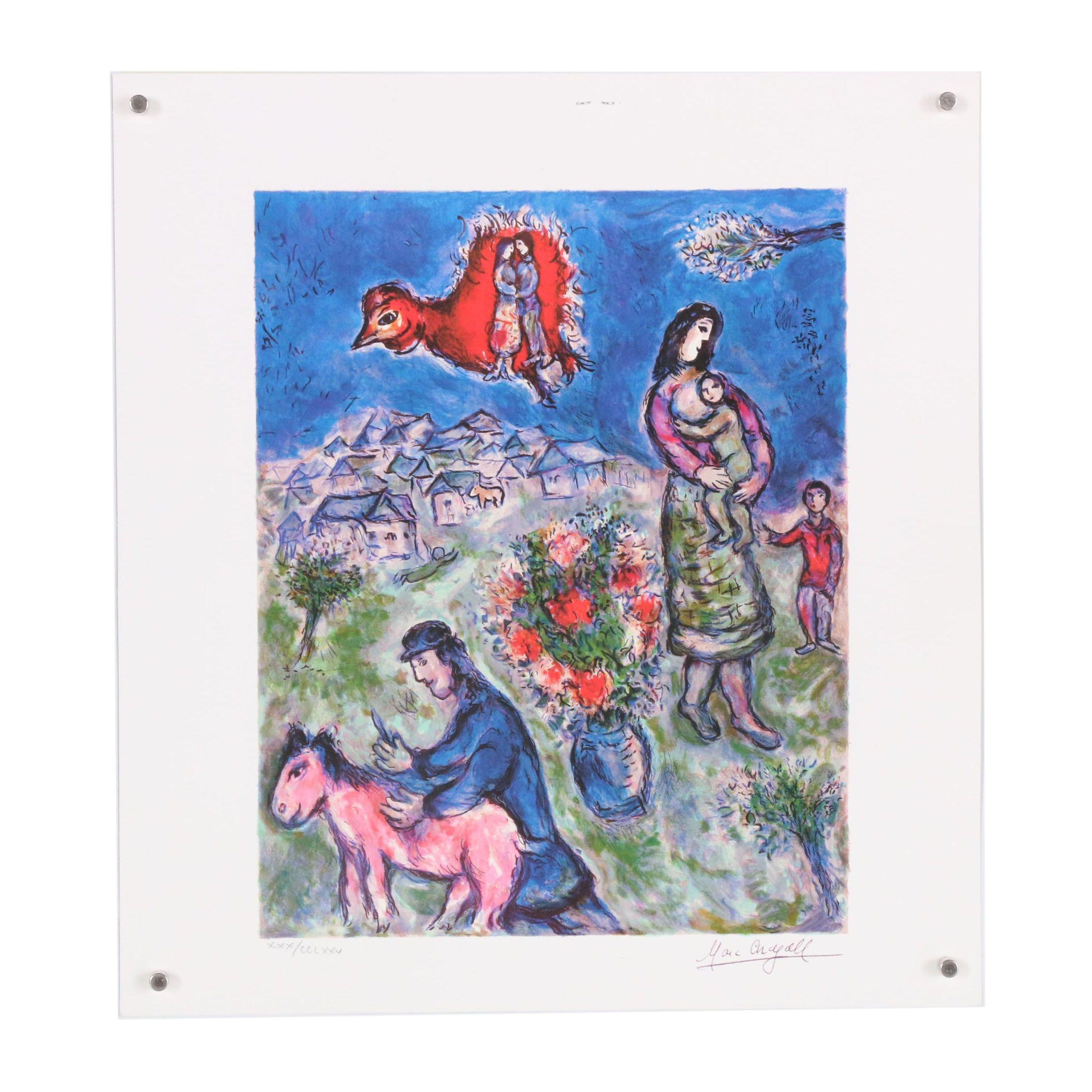 """Giclée after Marc Chagall """"Sur la Route du Village"""""""