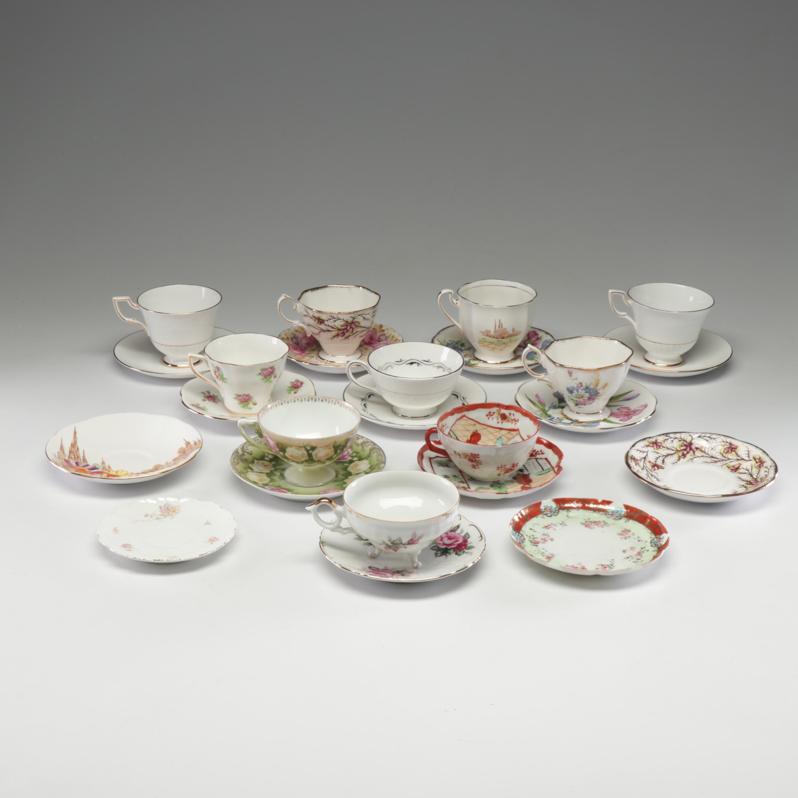 European and East Asian Bone China and Porcelain Tea Settings
