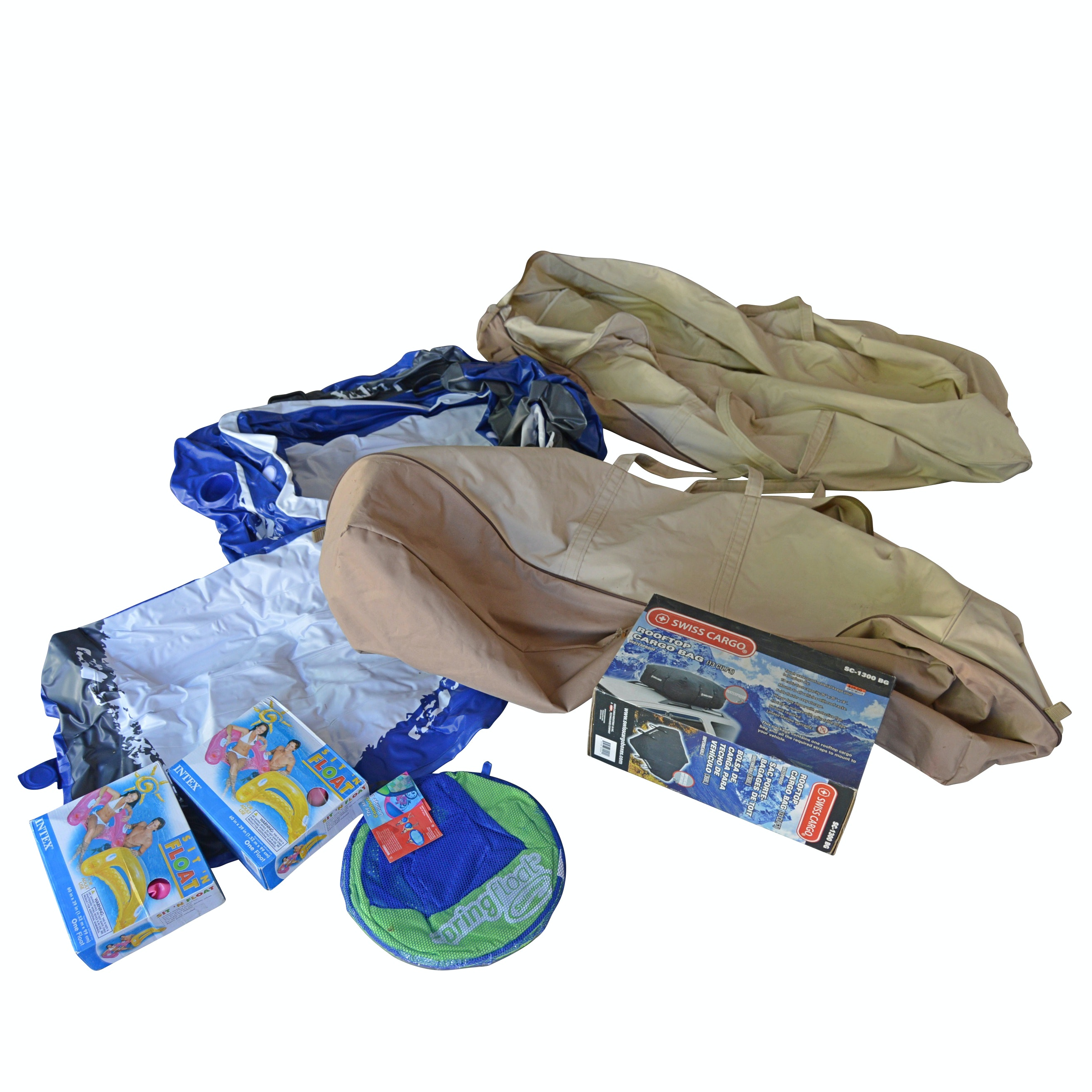 Canvas Storage Bags, Water Floats, Inflatable Rafts, Car Cargo Bag