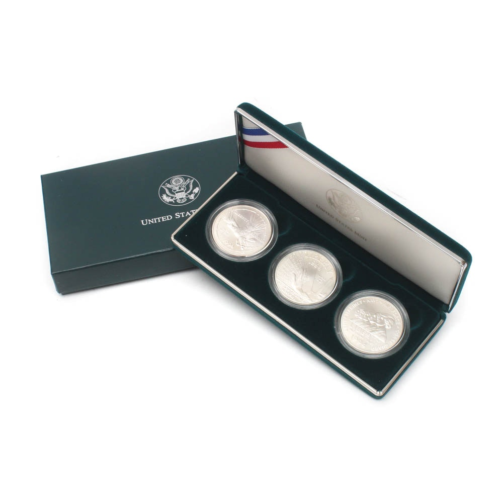 1994-W U.S. Veterans Commemorative Silver Dollars Three-Coin Set