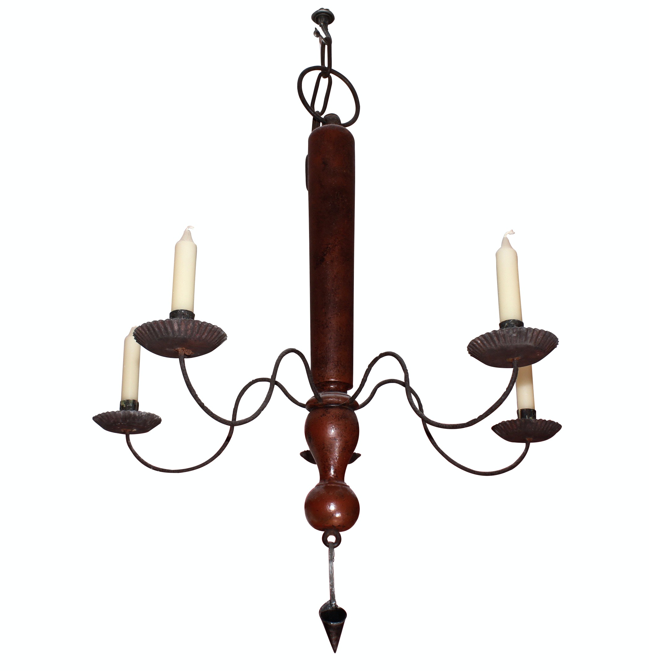 Federal Style Iron Five Candle Chandelier with Snuffer
