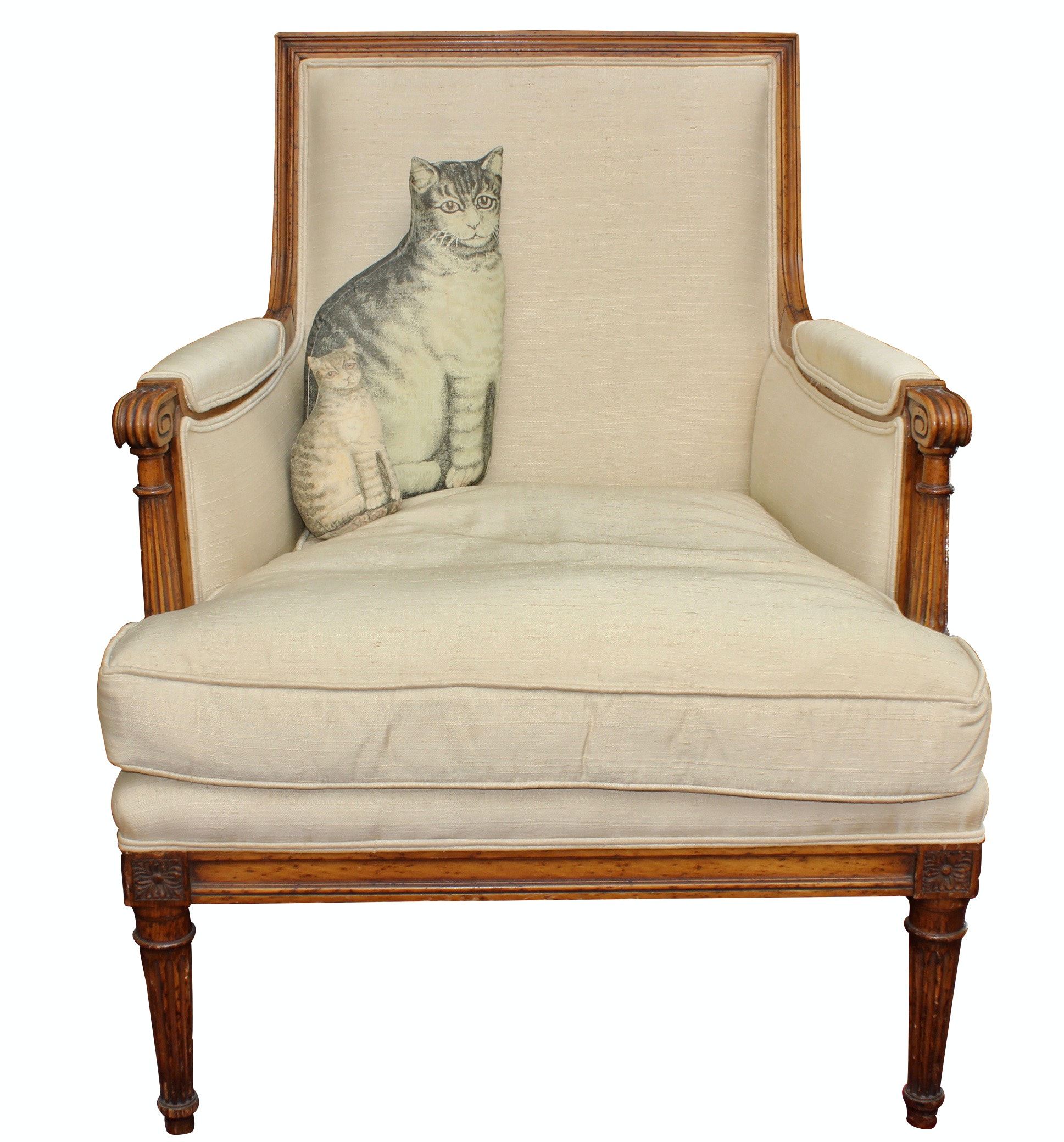 Louis XVI Upholstered Arm Chair, Antique