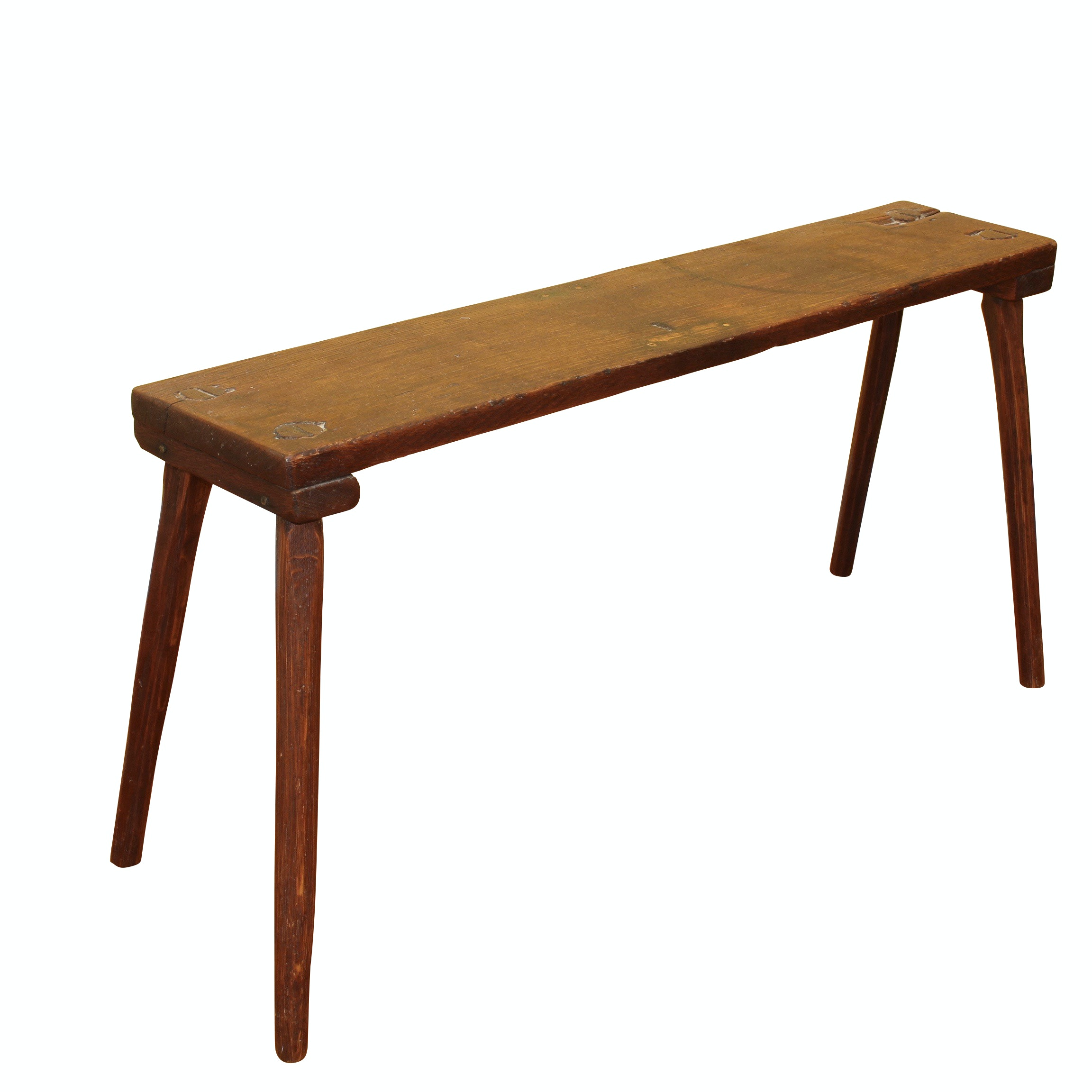 Arts and Crafts Wooden Bench, Antique
