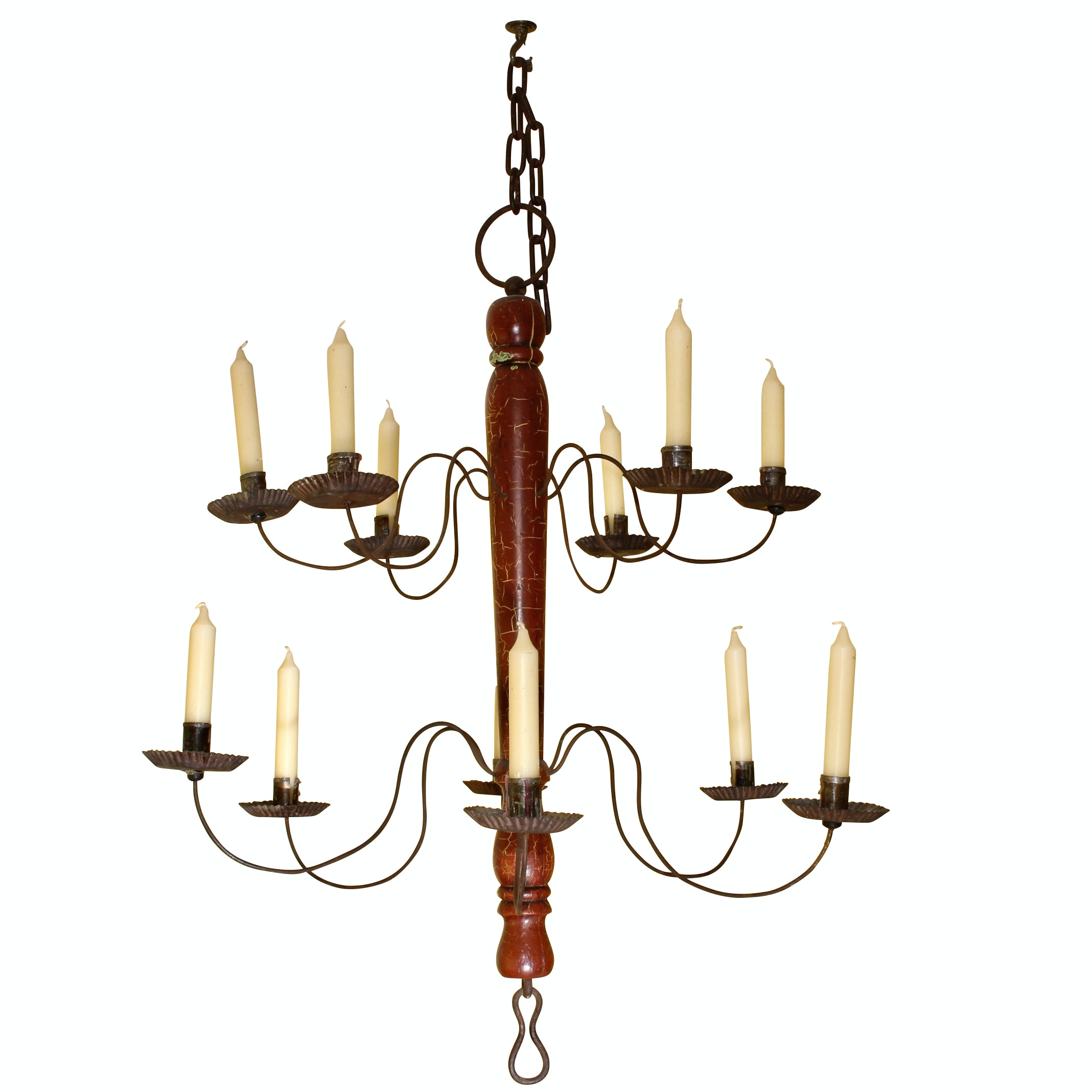 Federal Style Tiered Candle Chandelier