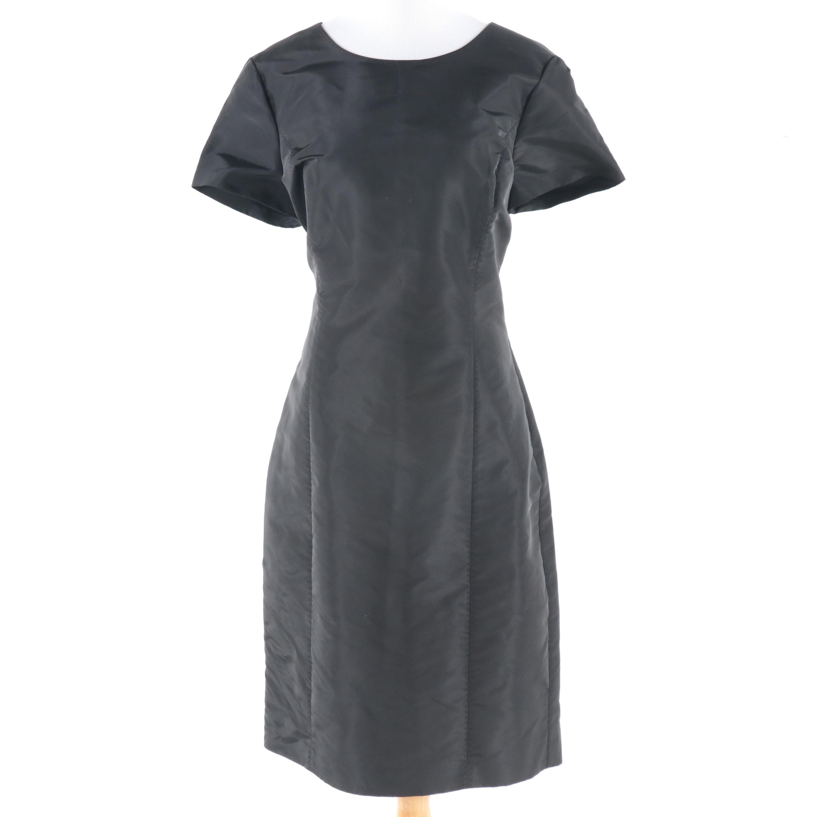 Brooks Brothers Black Faille Dress
