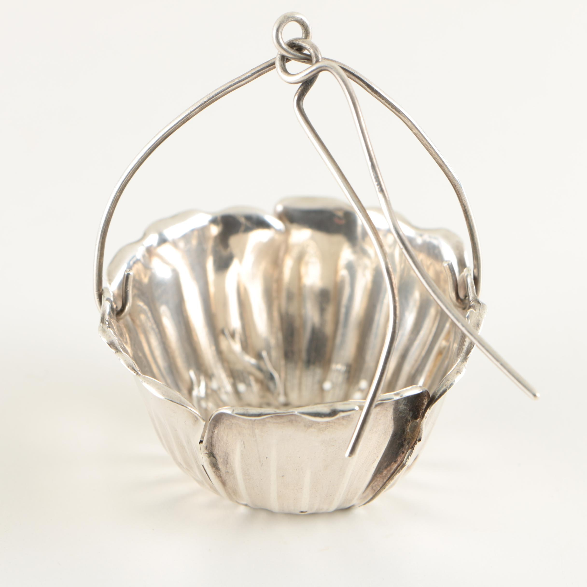 Gorham Sterling Poppy Blossom Form Tea Strainer
