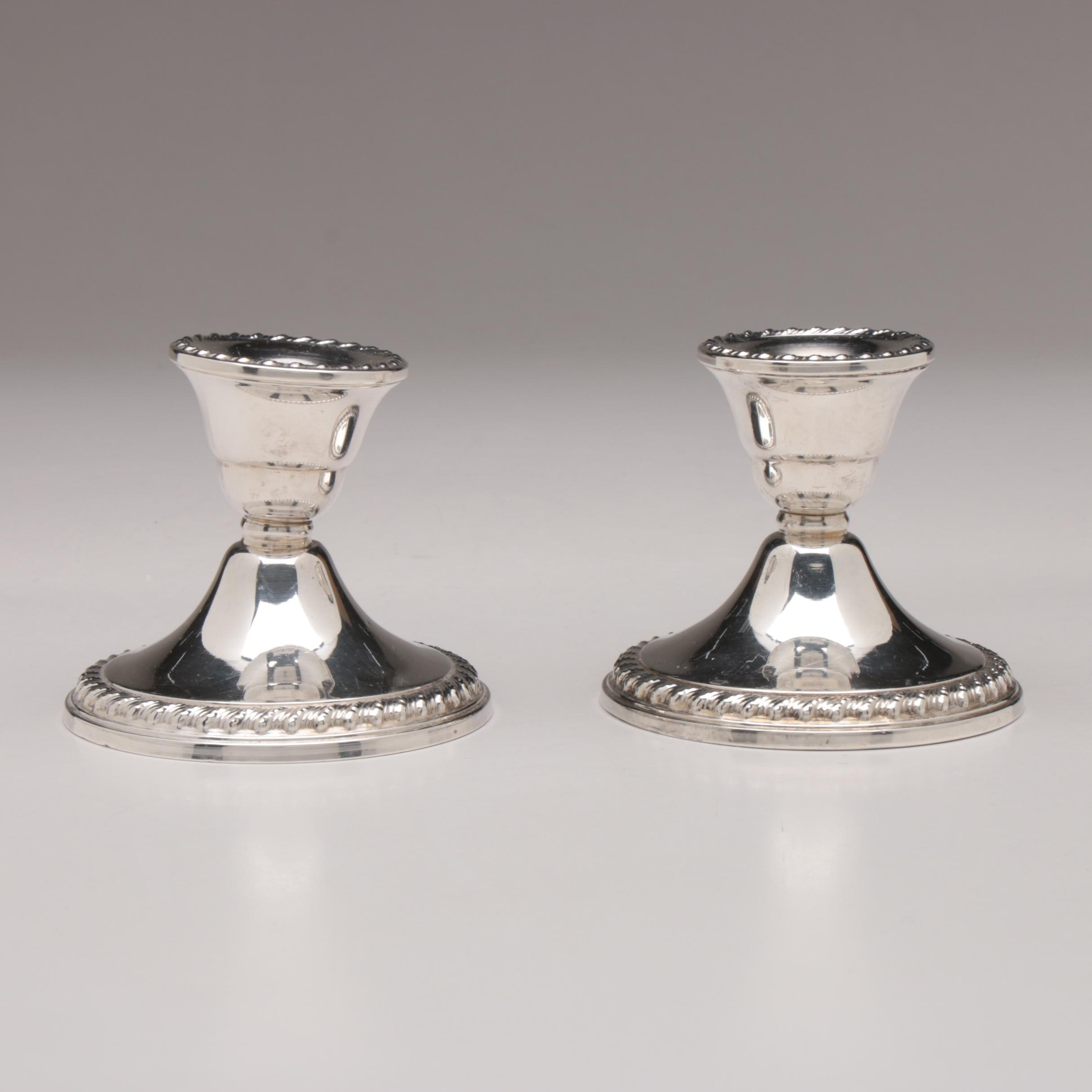 Wm Rogers Weighted Sterling Silver Candlesticks, Circa 1865 –1867