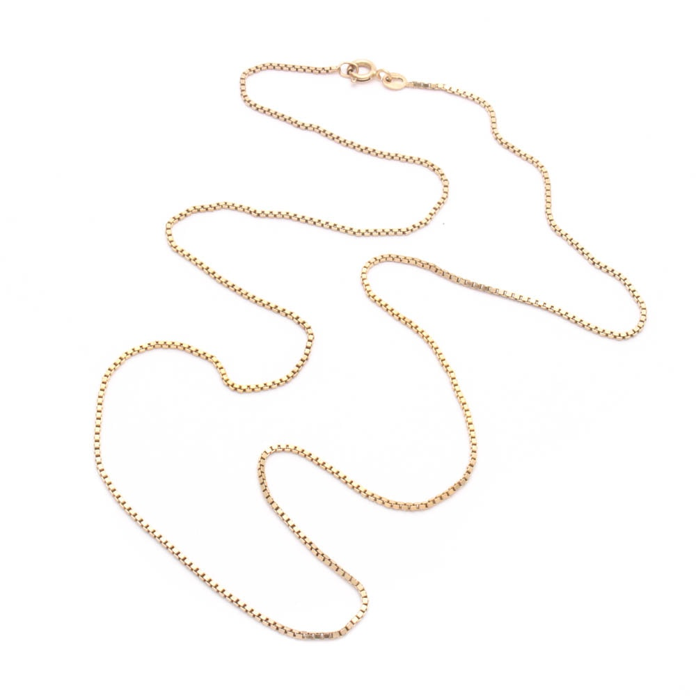 Milor Sterling Silver Box Chain Necklace