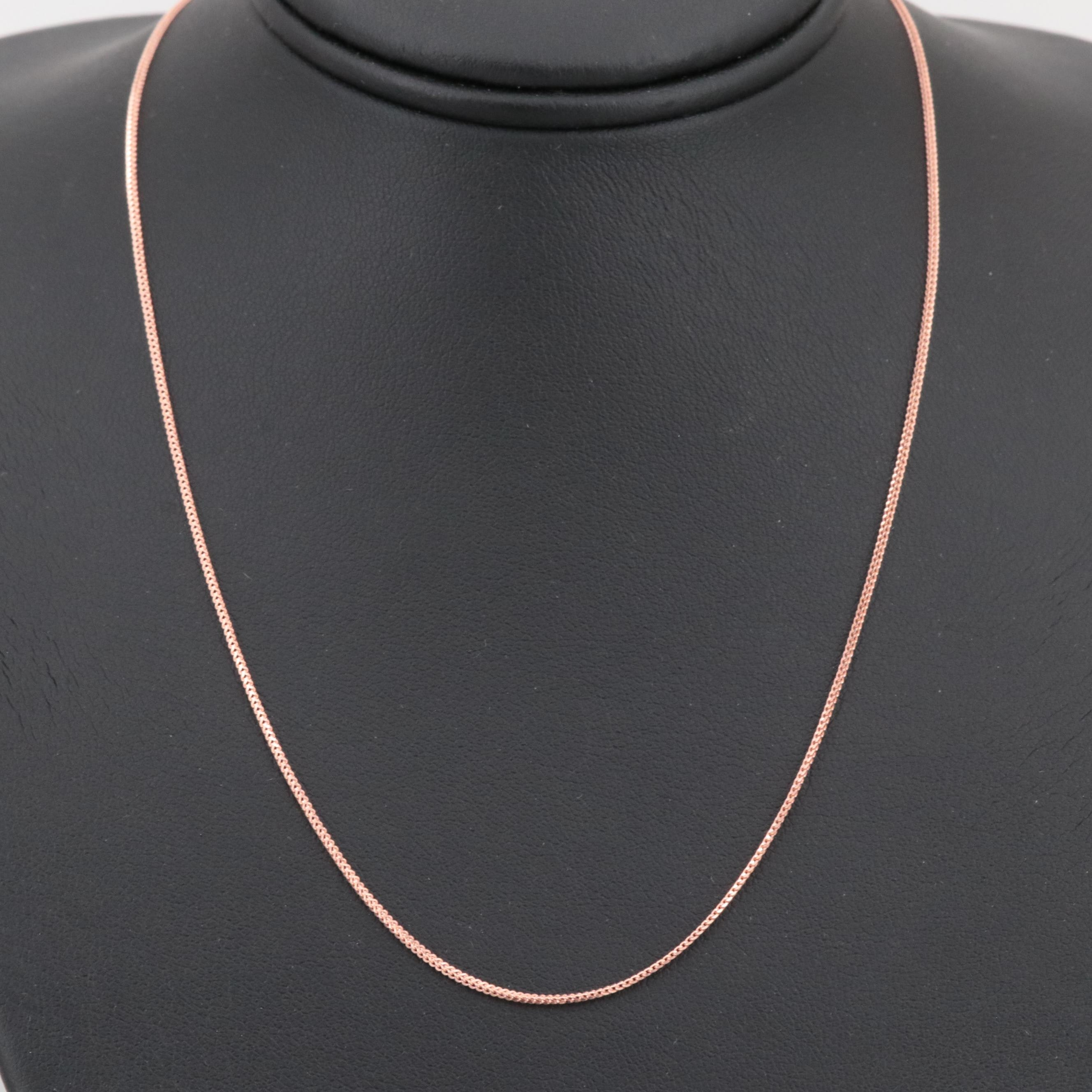 14K Rose Gold Fancy Link Chain Necklace