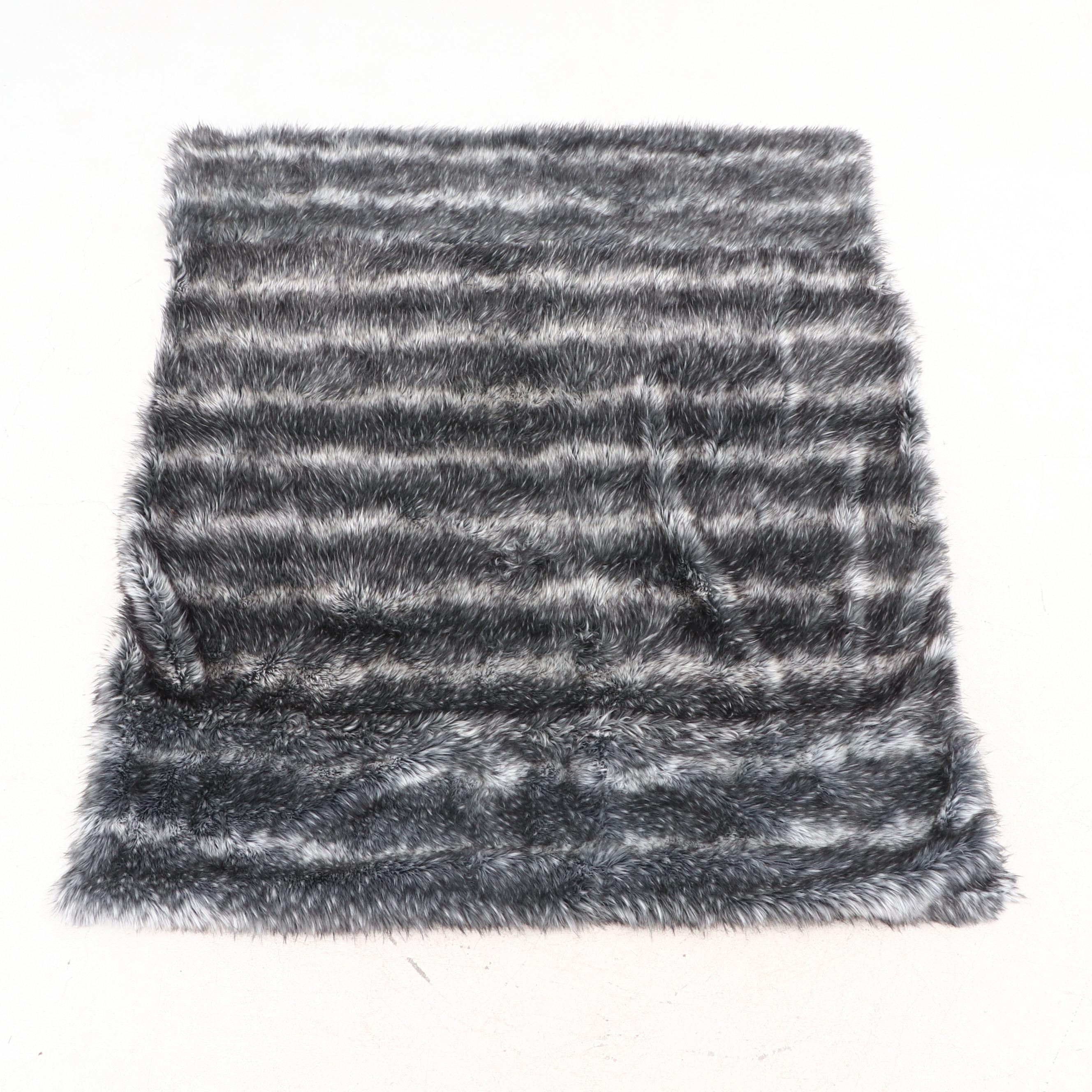 Restoration Hardware Faux Fur King Sized Throw