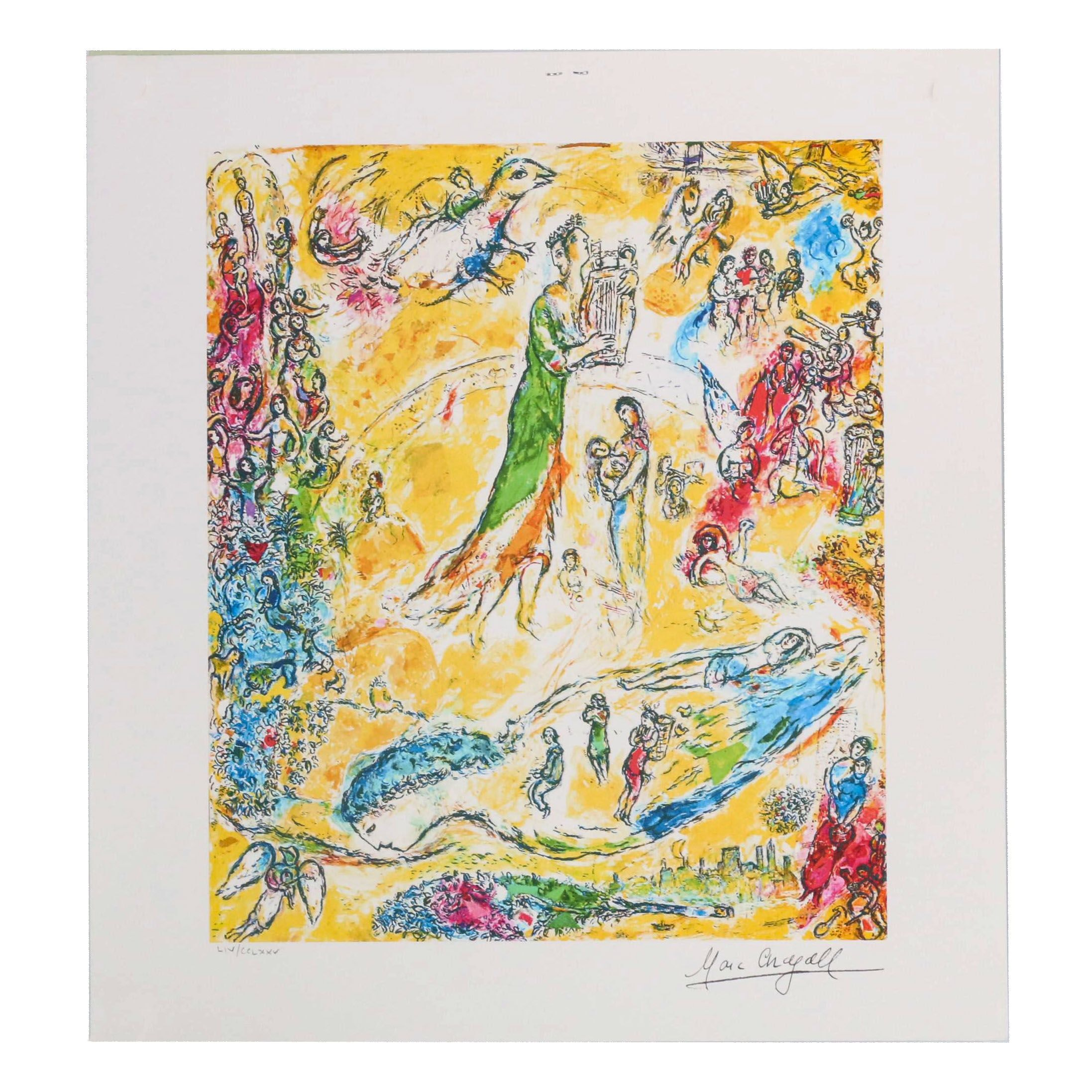 """Giclée after Marc Chagall """"The Sources of Music"""""""