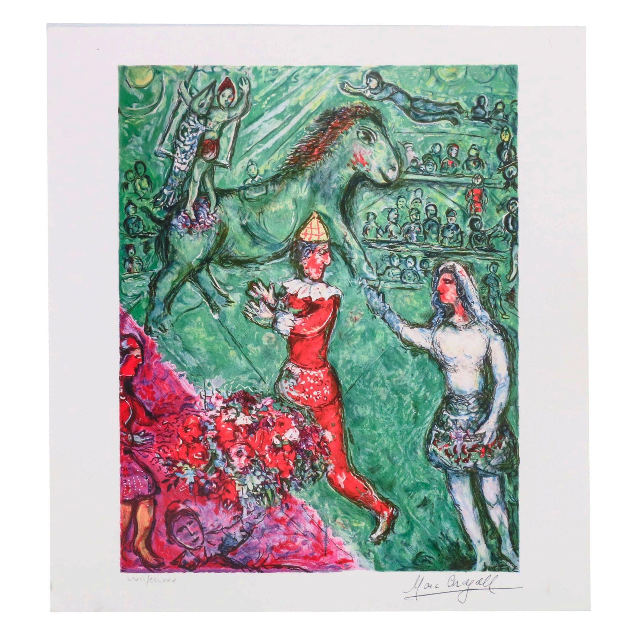 "Gicleé after Marc Chagall ""Le Cirque Verte"""