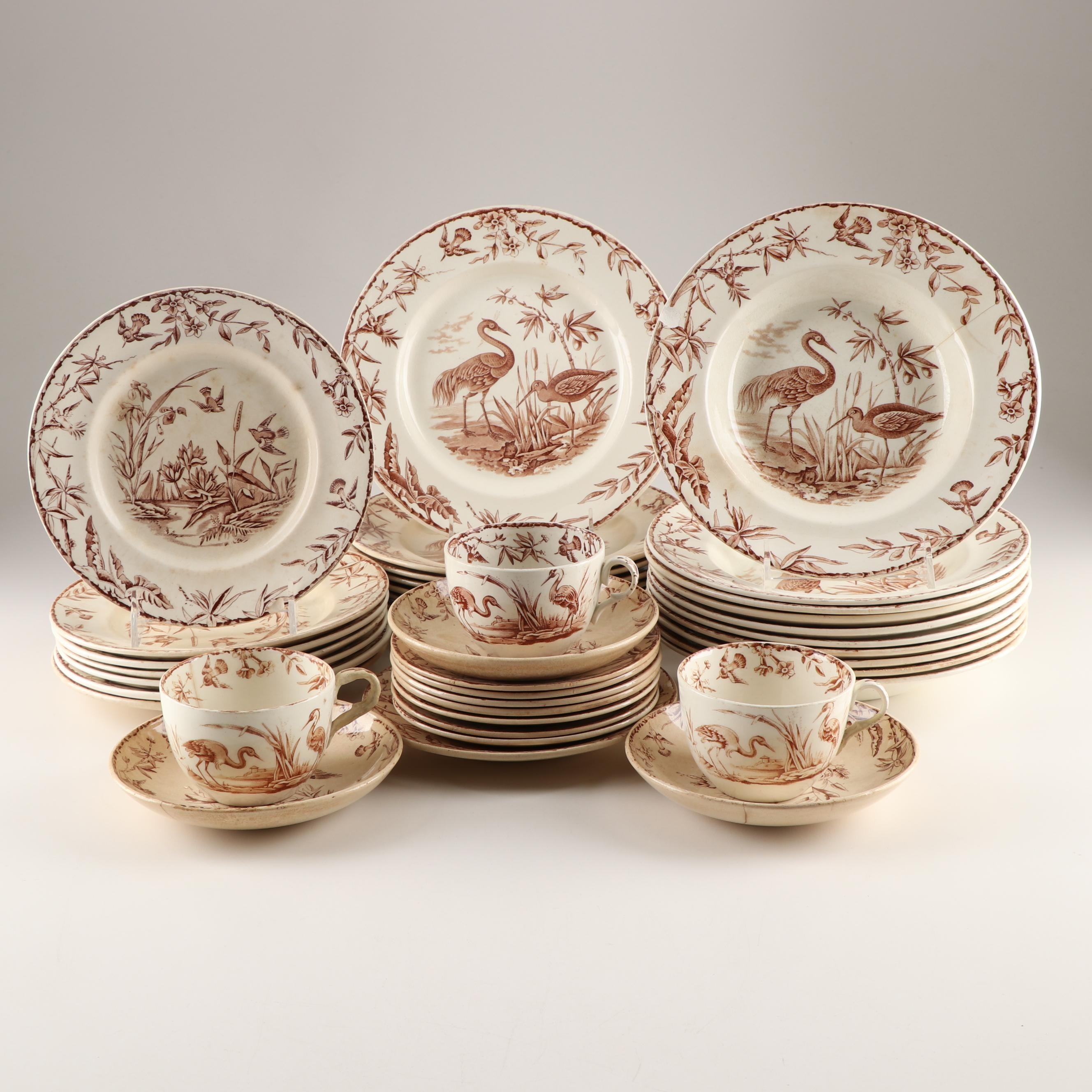 """Ridgway """"Indus"""" Dinnerware, c. 1870s"""
