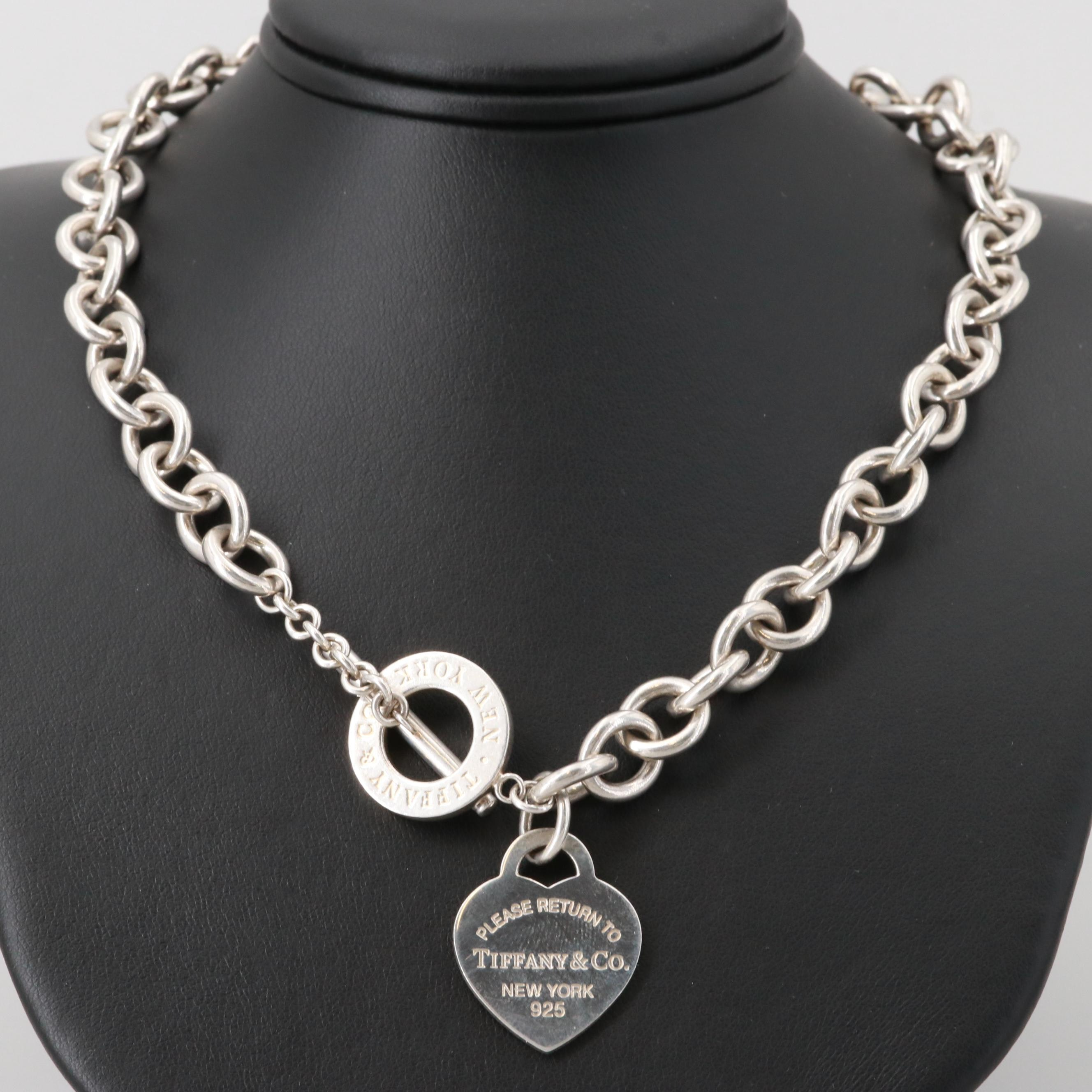 """Tiffany & Co. Sterling Silver """"Return to Tiffany"""" Heart Tag Necklace"""