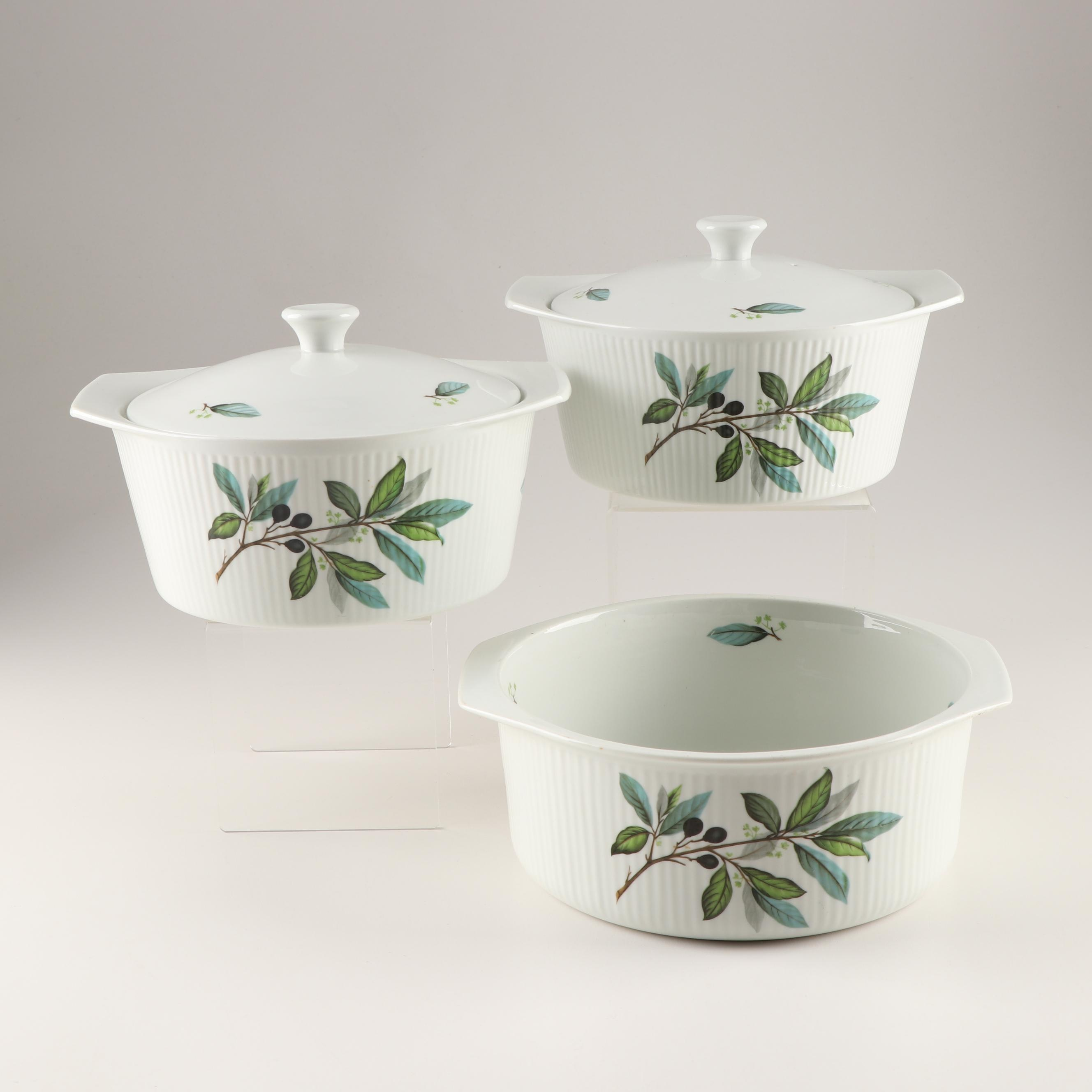 Porcelaine A Feu Covered Casserole and Souffle Dishes