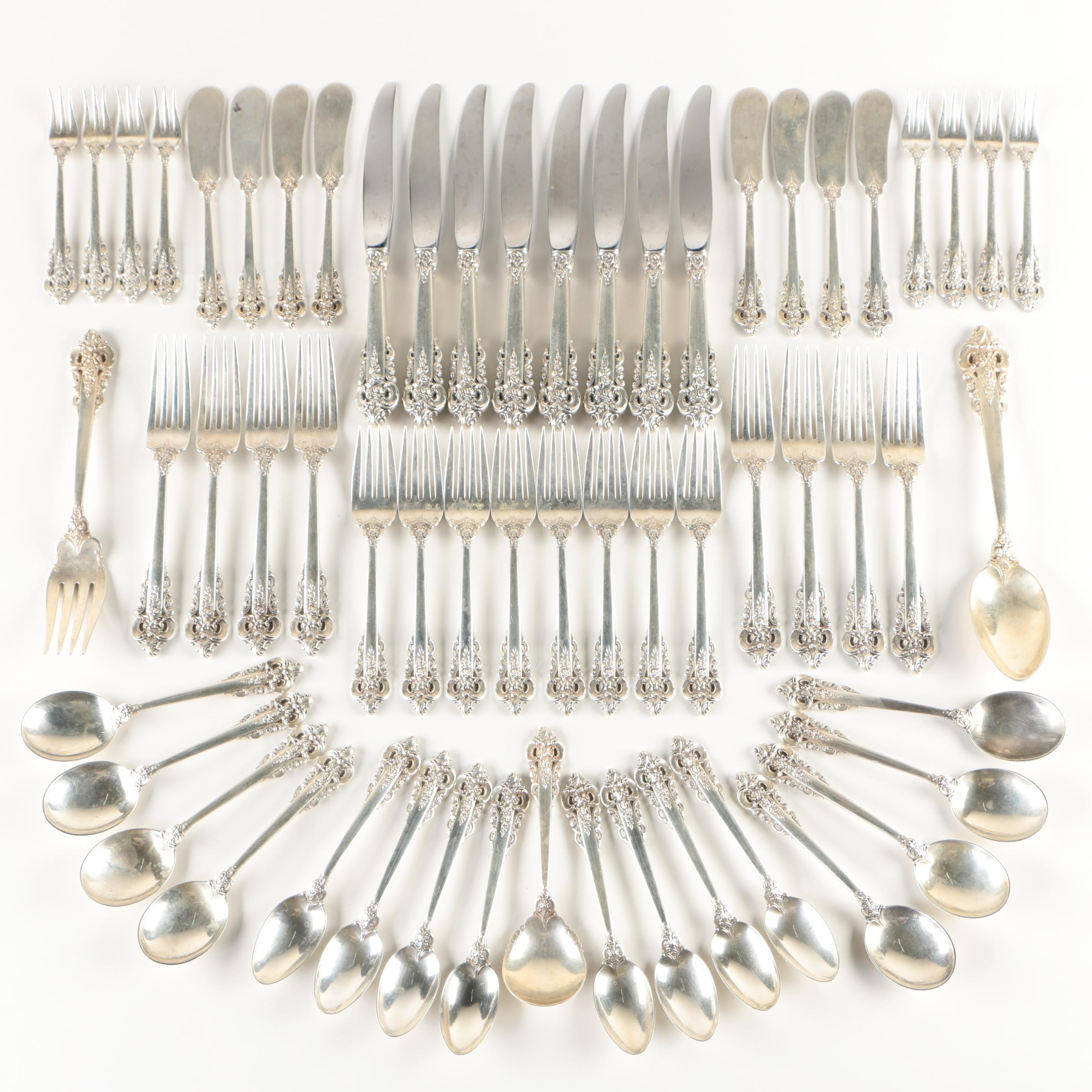 "Wallace ""Grande Baroque"" Sterling Silver Flatware Service for Eight"