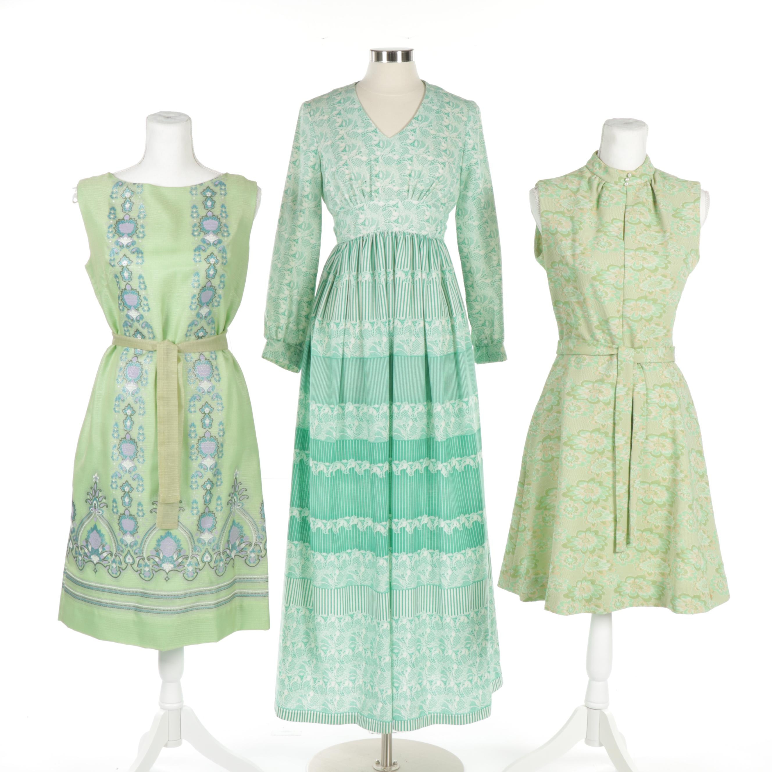 Women's Dresses with Alfred Shaheen and Montgomery Ward, Vintage