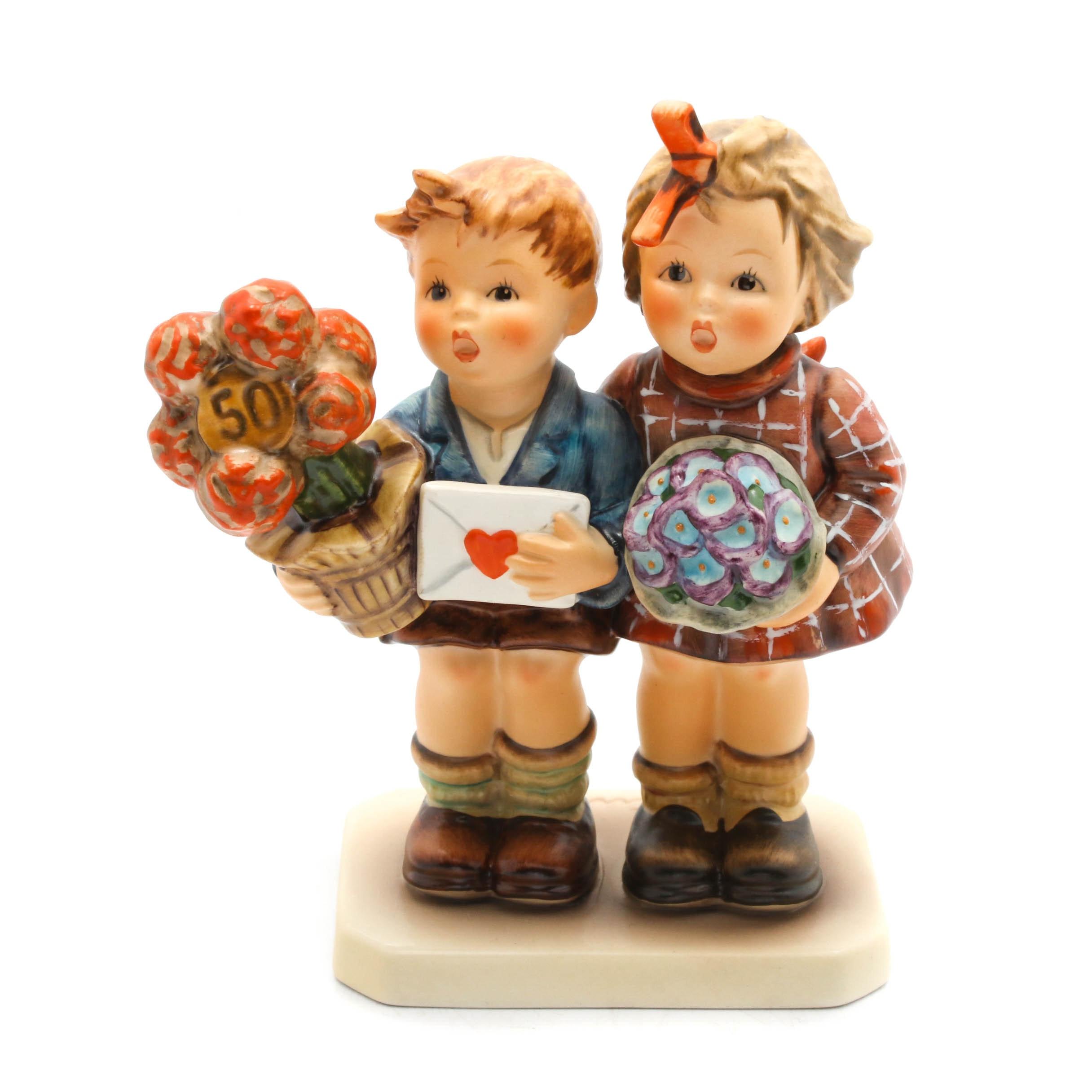"""Goebel Hummel Jubilee """"The Love Lives On"""" Porcelain Figurine"""