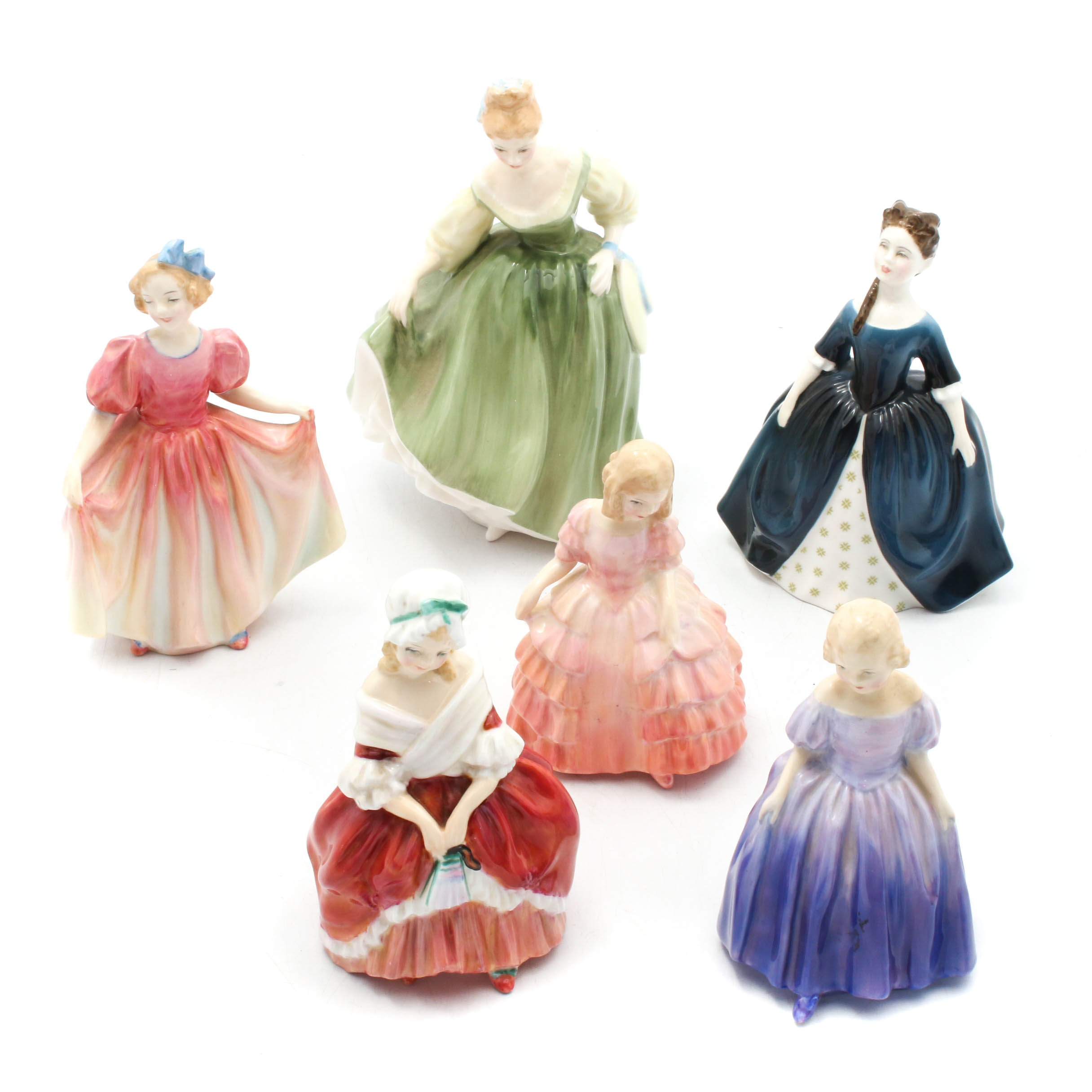 Royal Doulton Girls in Gowns Porcelain Figurines