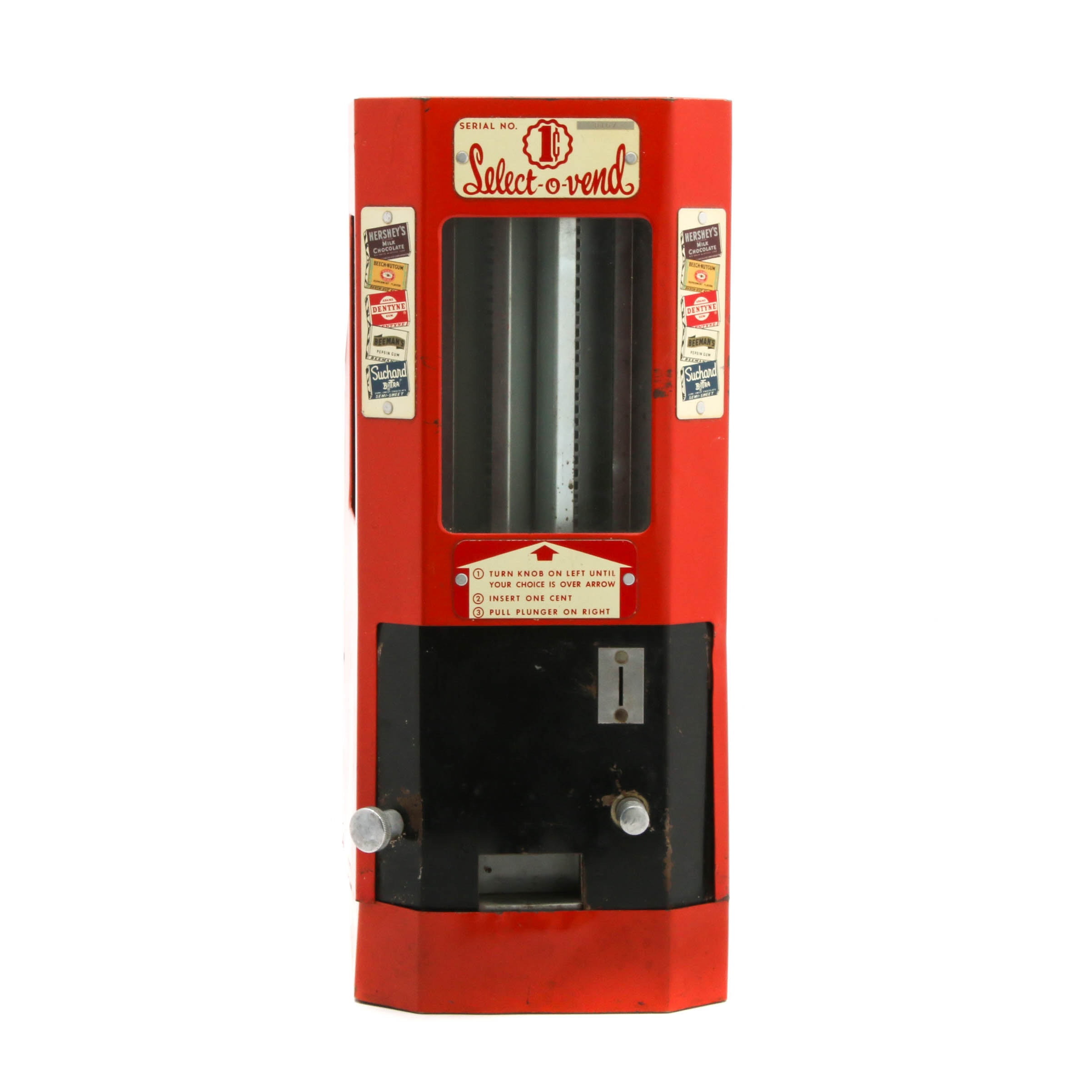 Select-O-Vend 1-Cent Candy Machine, Mid-Century