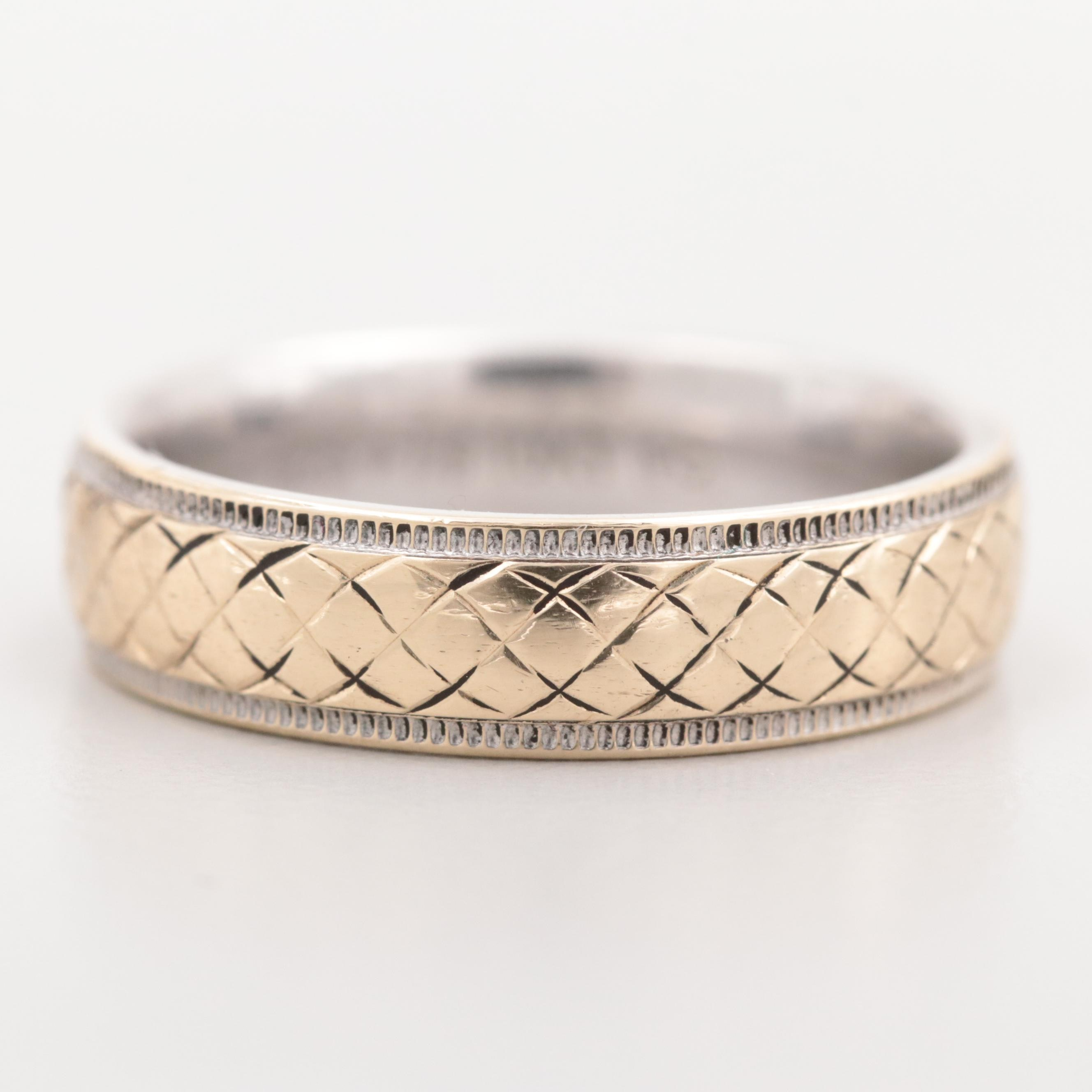 Sterling Silver Ring with 10K Yellow Gold Accent