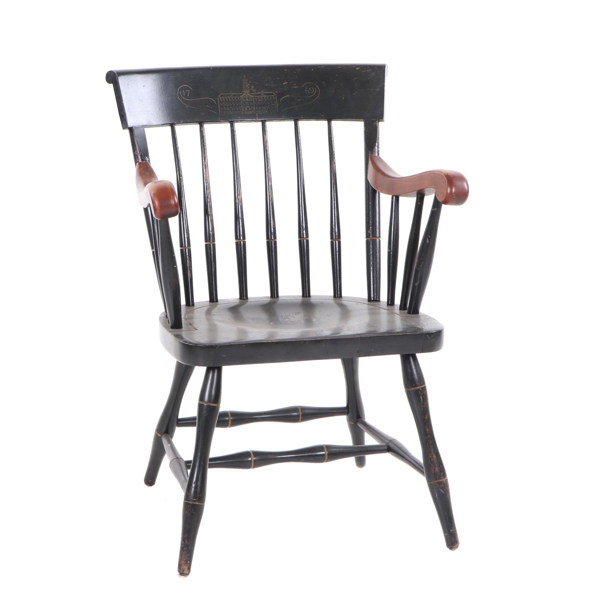 Nichols & Stone Dartmouth Painted Maple Windsor Style Armchair, Mid 20th Century