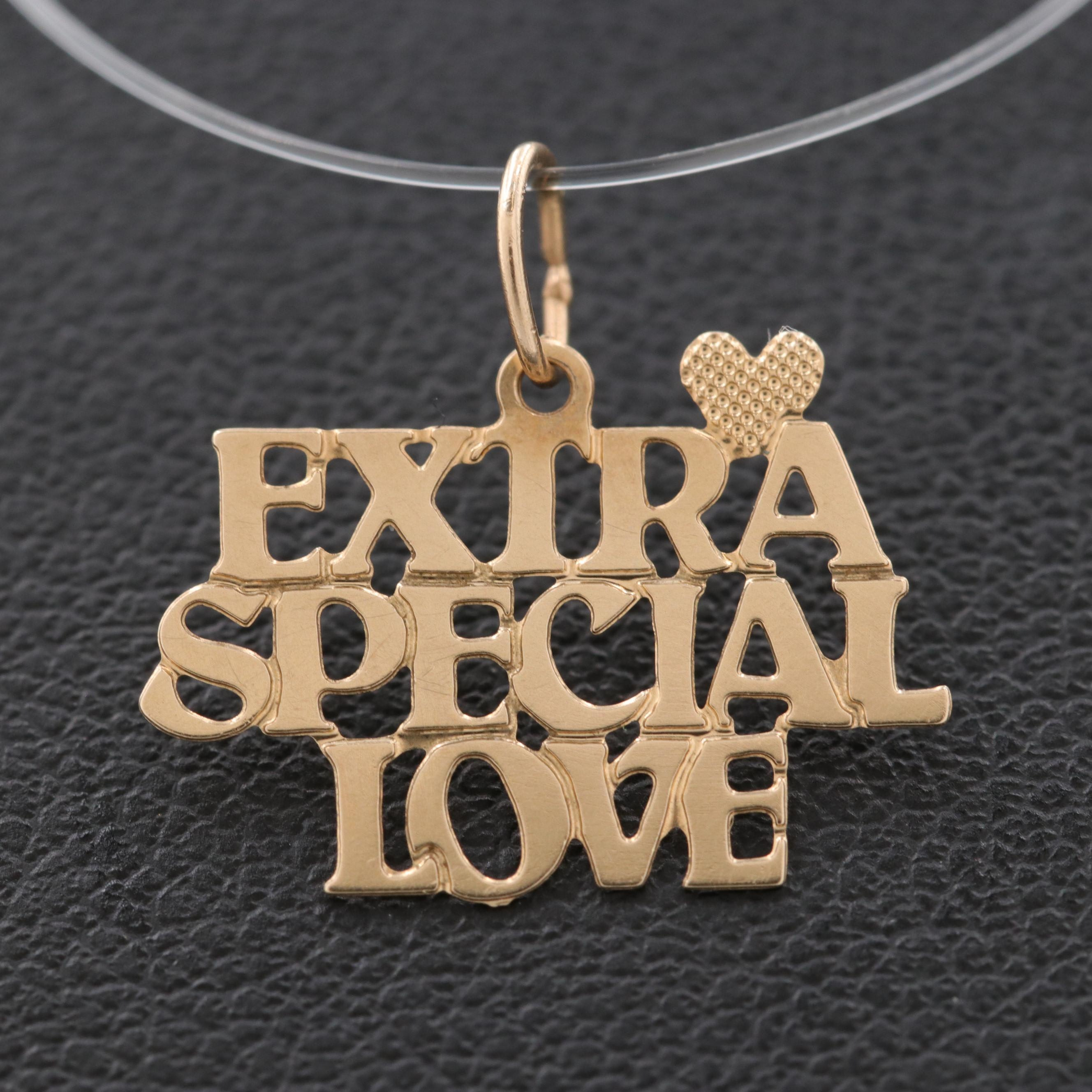 "14K Yellow Gold ""Extra Special Love"" Charm"