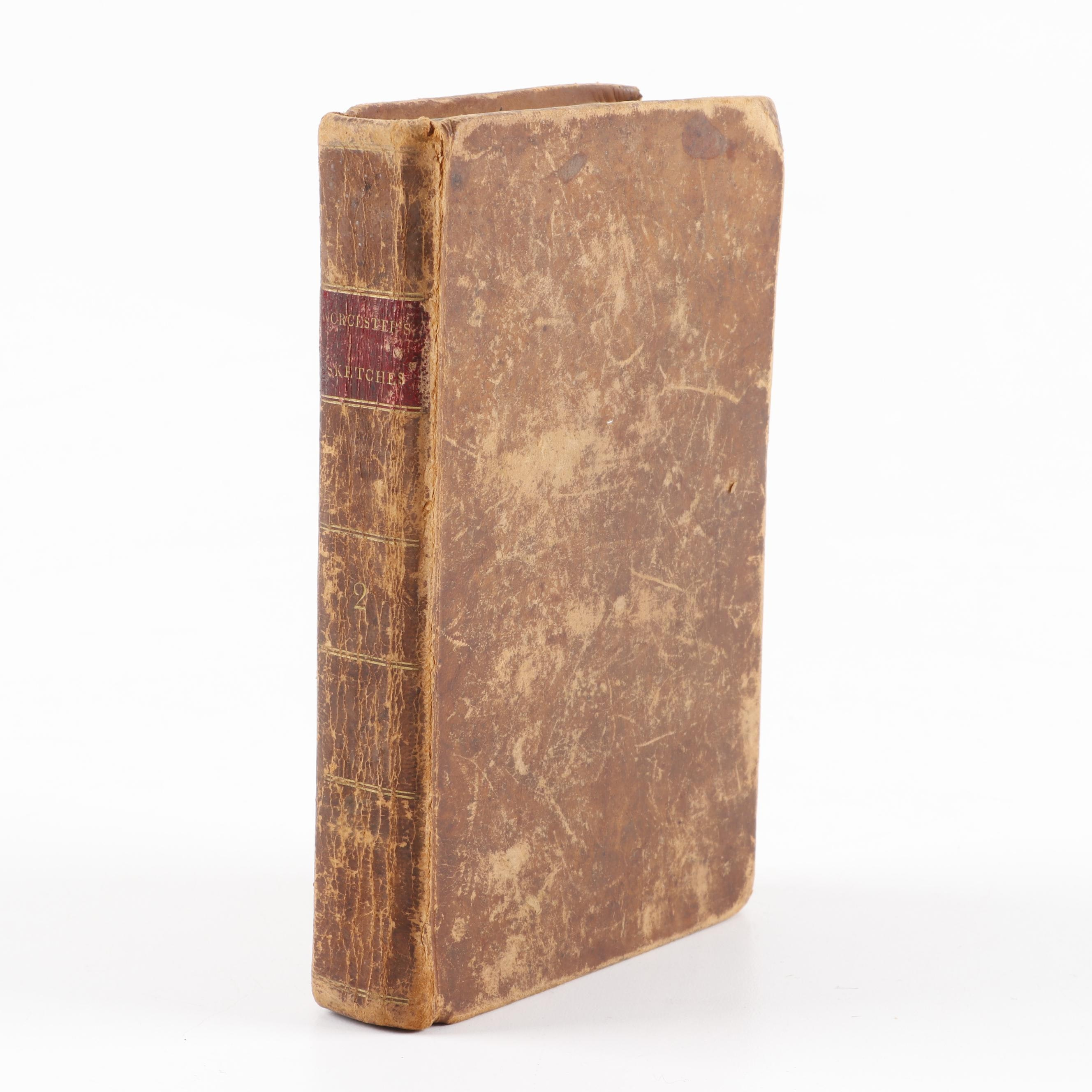 "1823 ""Sketches of the Earth and It's Inhabitants"" Volume II by J.E. Worcester"