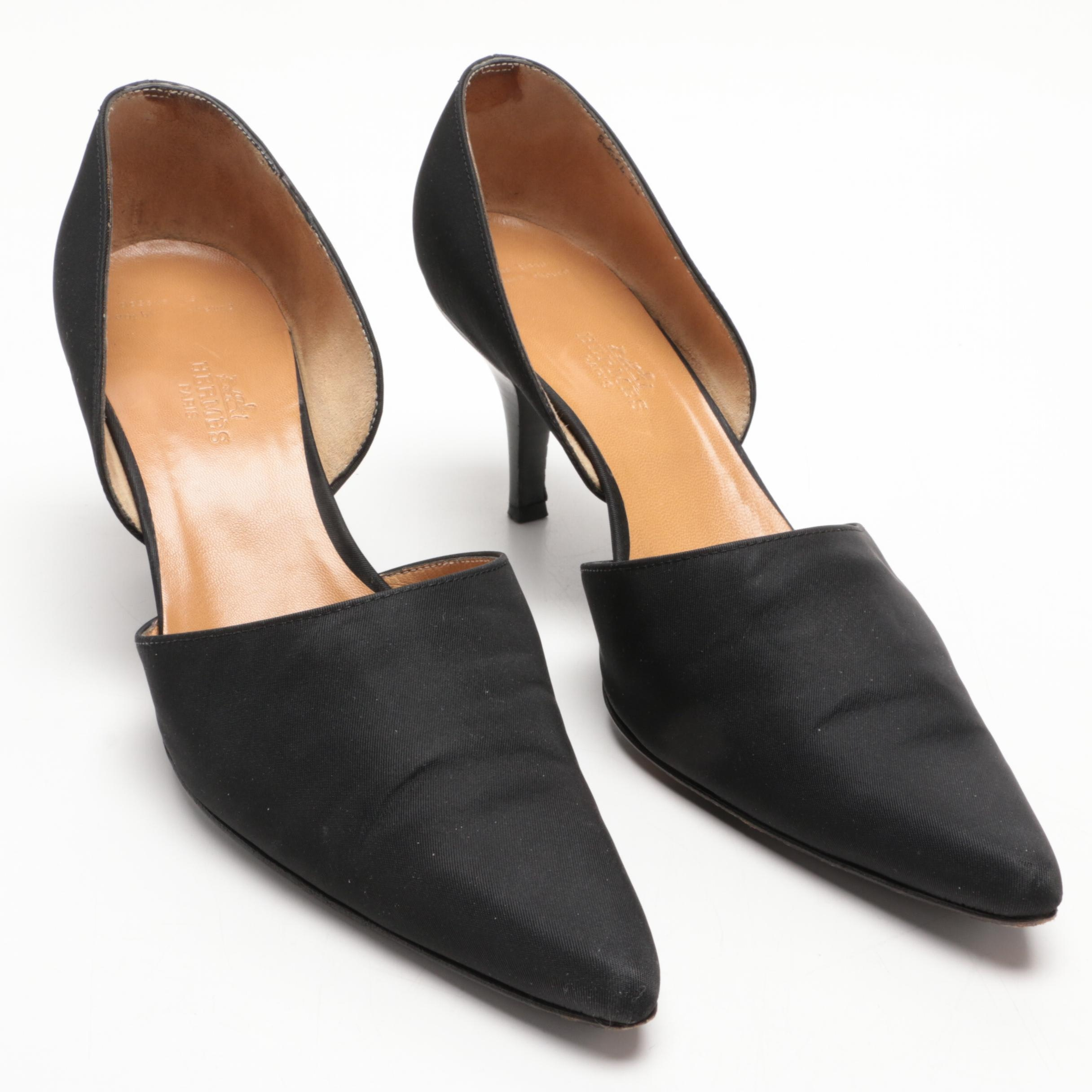 Hermès of Paris Black D'Orsay High Heels