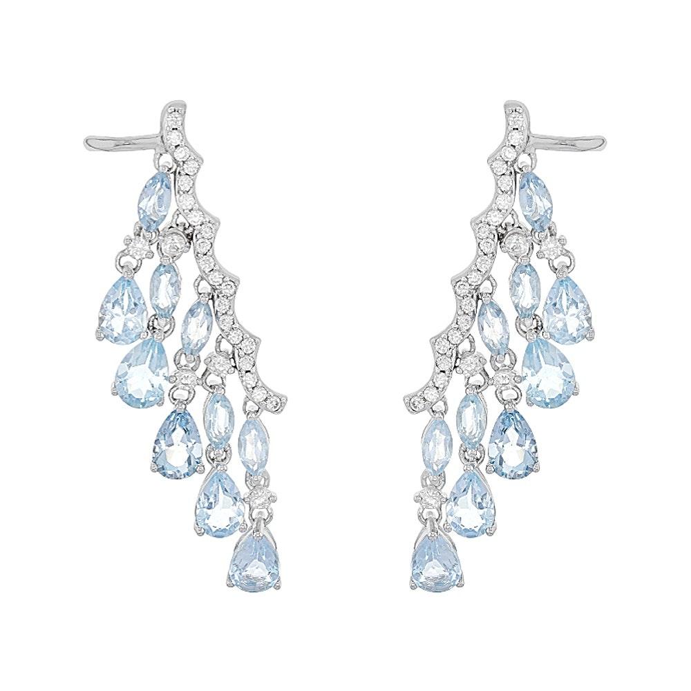 Sterling Silver Topaz Earrings