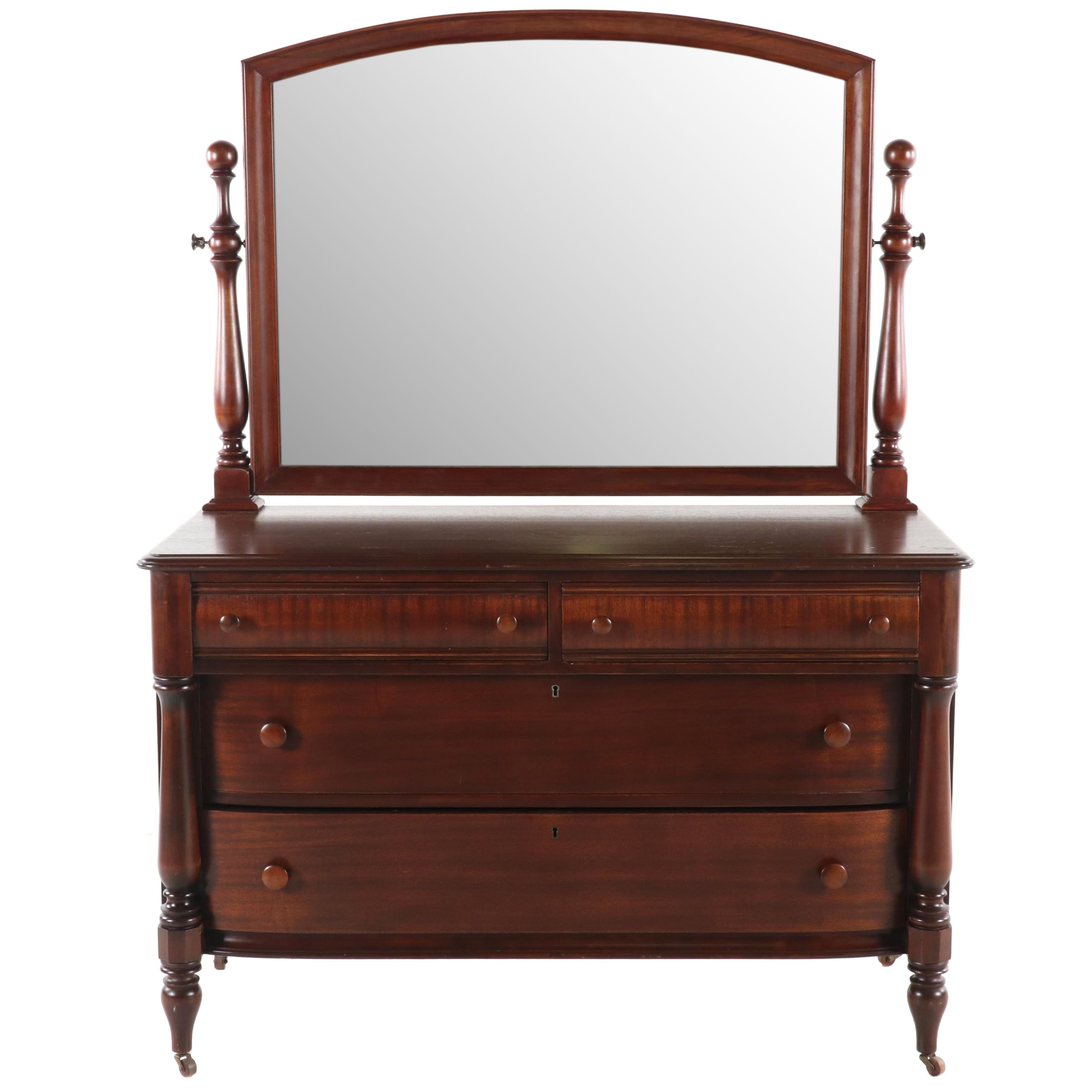 Transitional Mahogany Chest of Drawers, 1920s