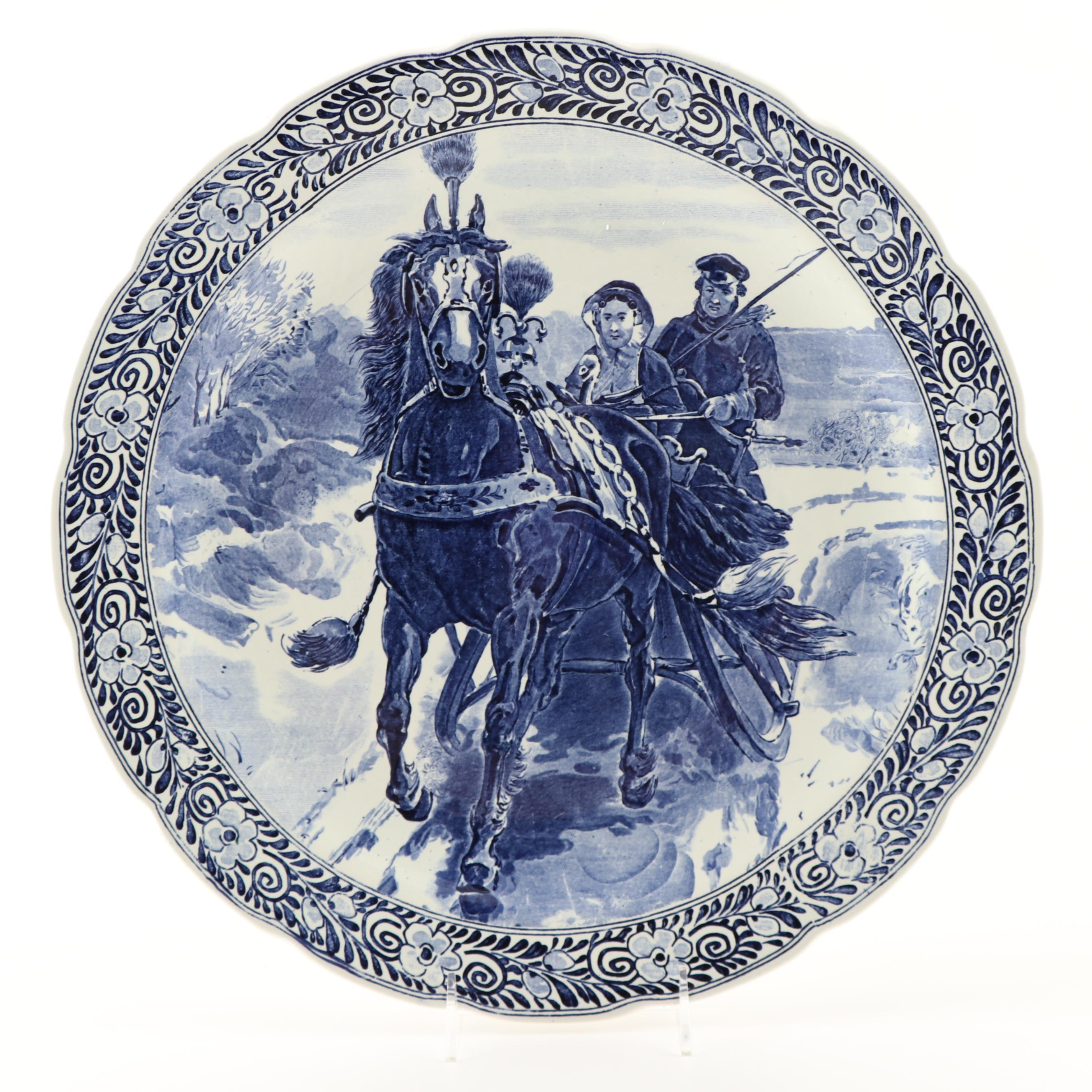 Delft Blue and White Charger Plate