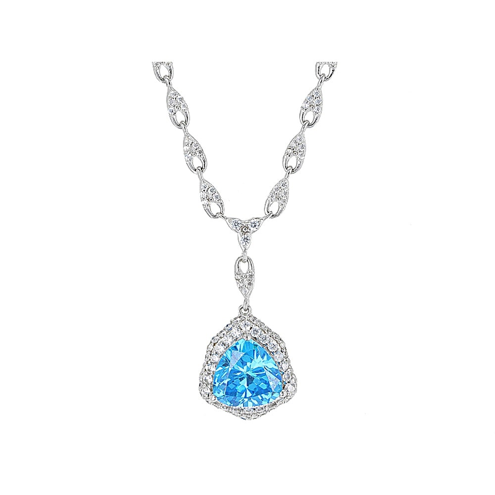 Sterling Silver Gemstone Simulants Necklace