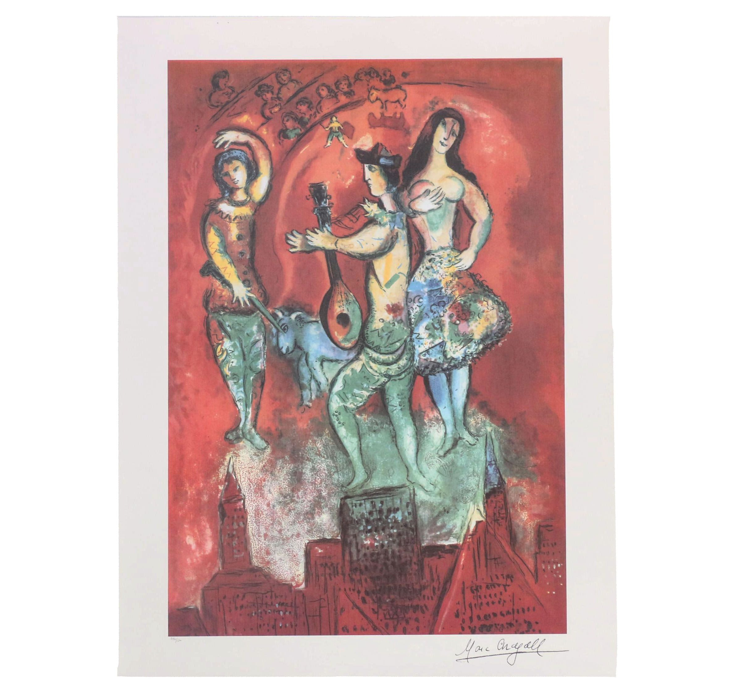 "Offset Lithograph after Marc Chagall ""Carmen"""
