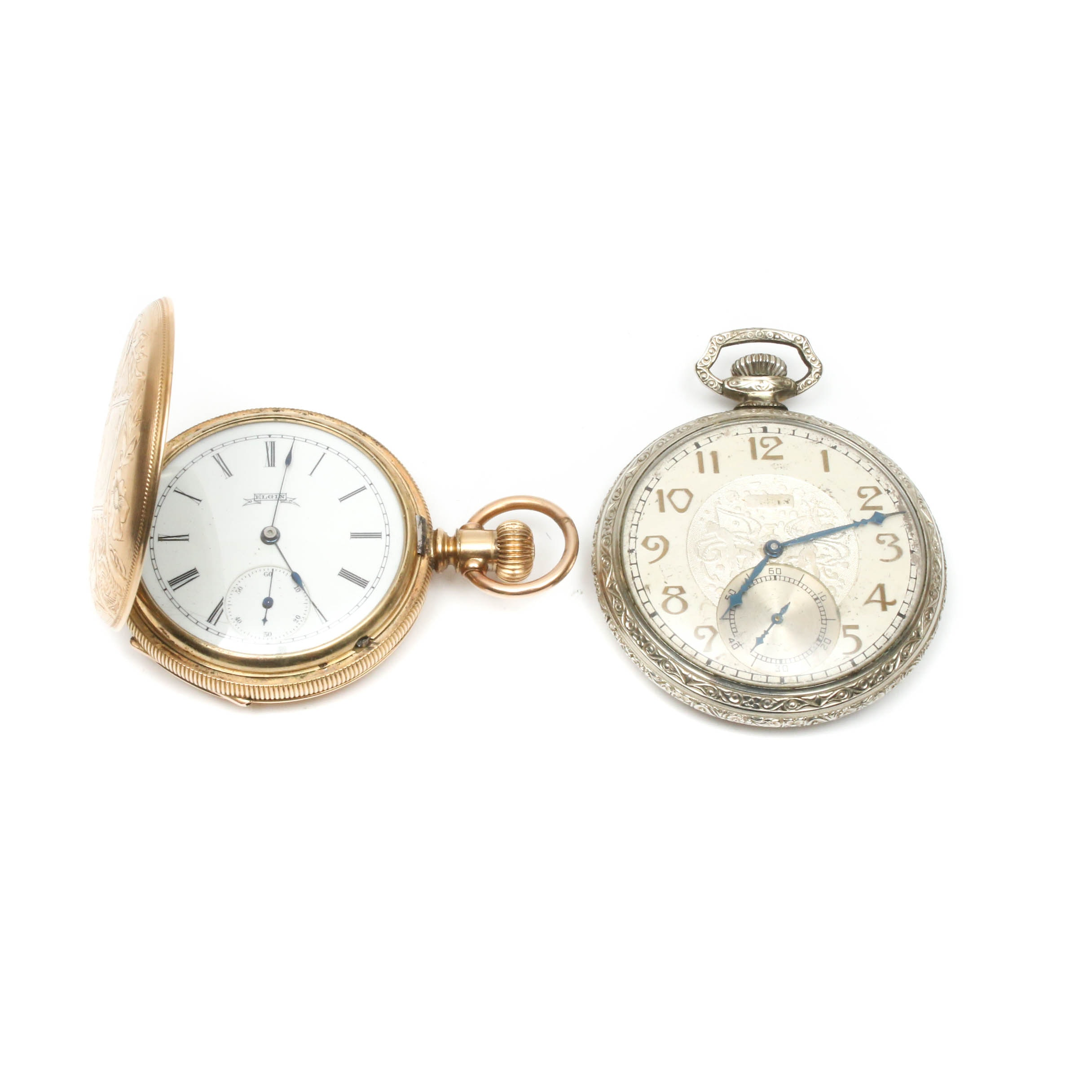 Elgin Pocket Watches, Early to Mid 20th Century