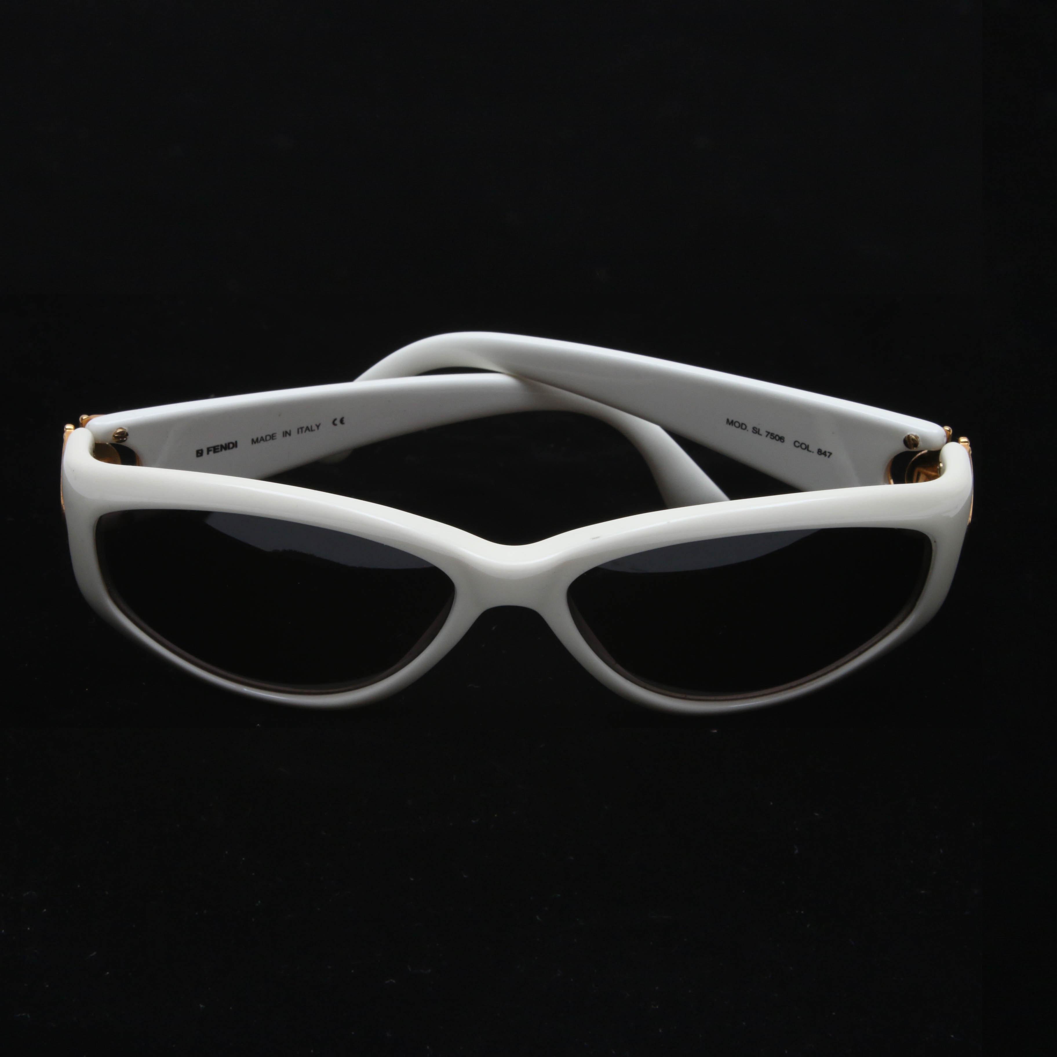 Fendi SL 7506 Modified Cat Eye Sunglasses