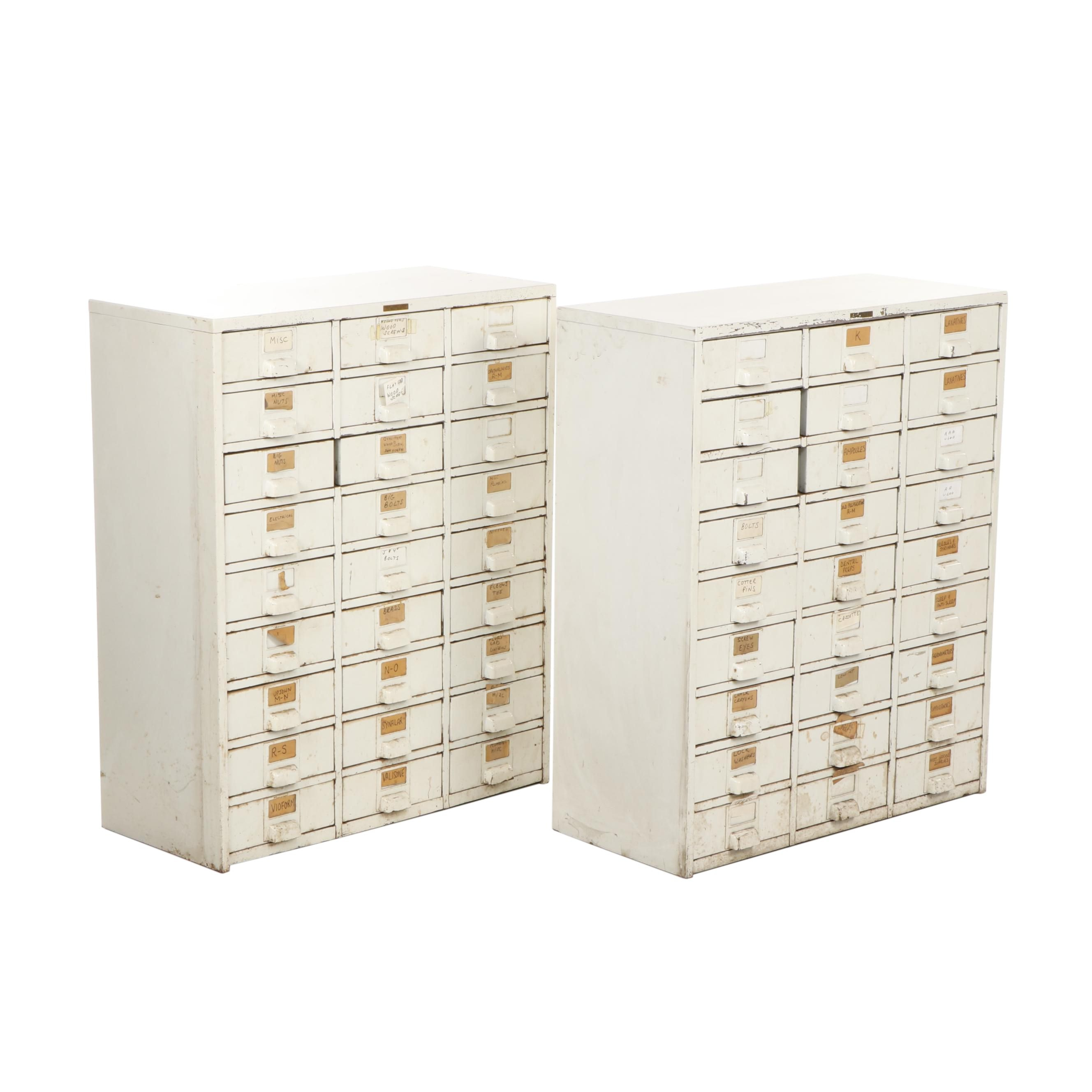 Pair of Hobart Cabinet Company Tool Cabinets
