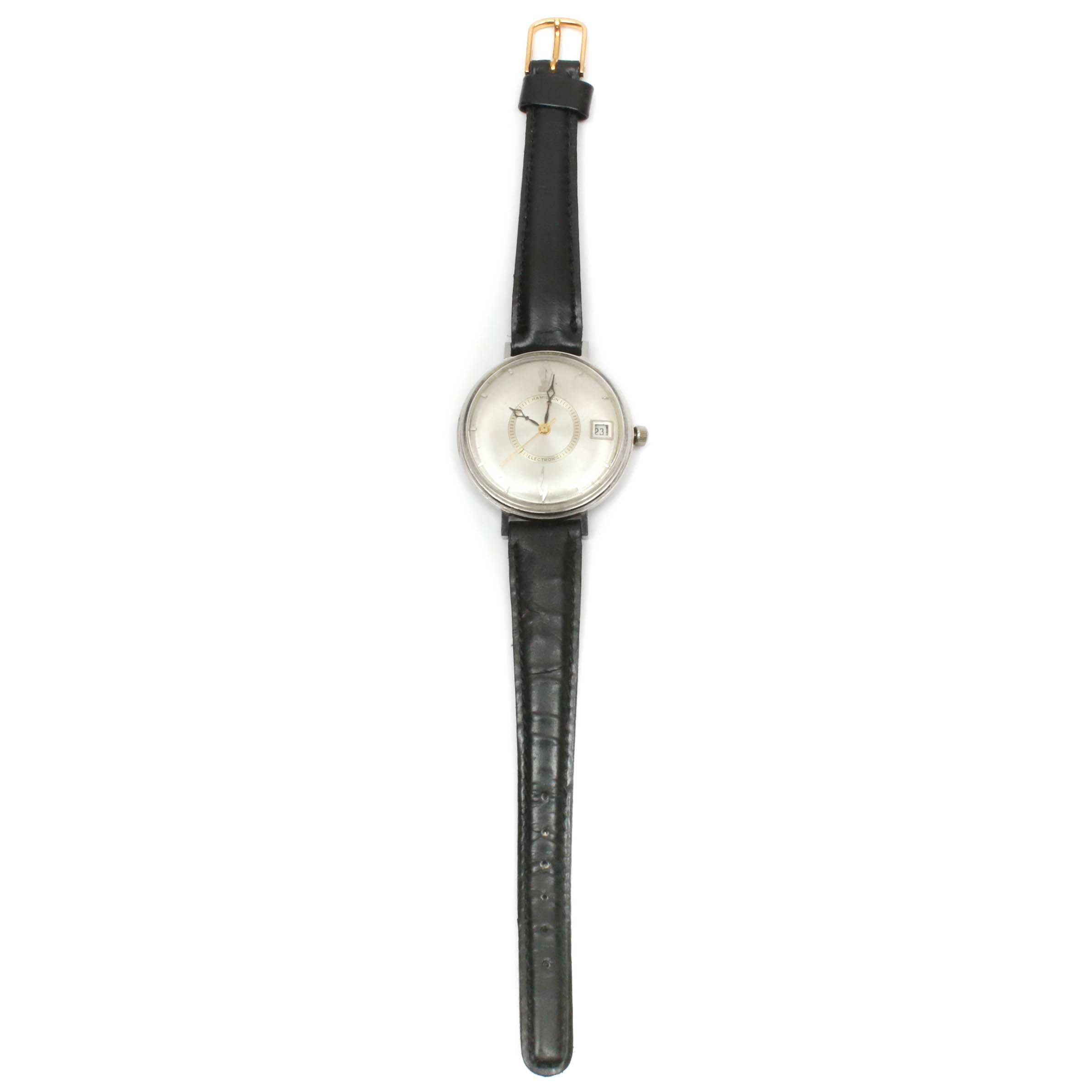 Hamilton Wristwatch with Leather Band, Mid 20th Century