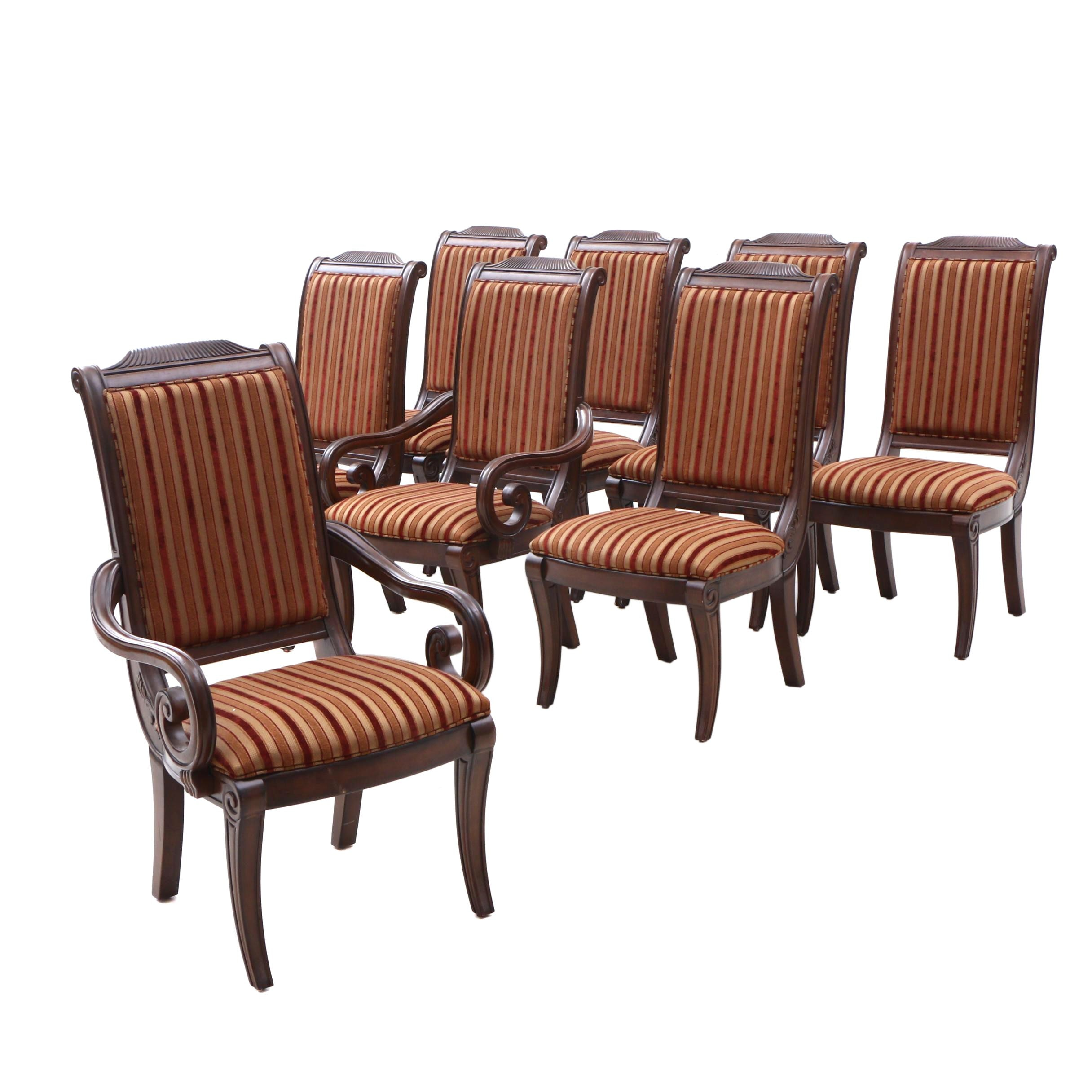 Empire Style Walnut Dining Chairs by Bernhardt Furniture