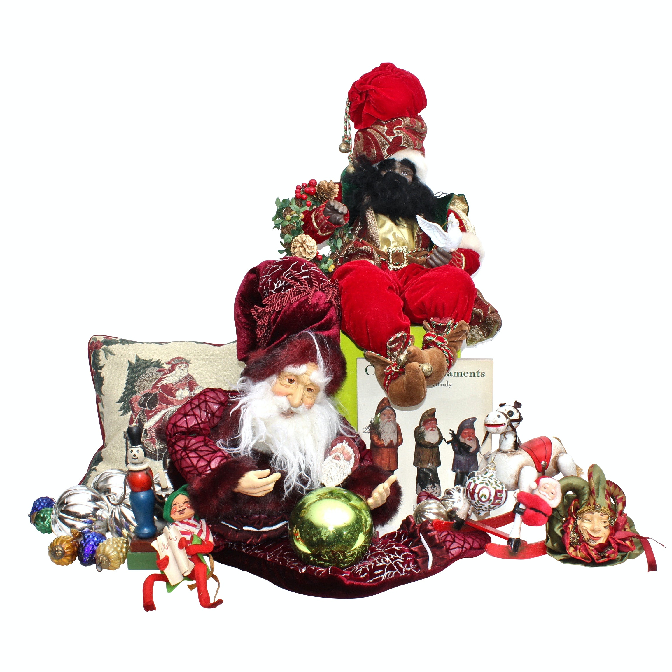 Vintage Christmas Decor Including Annalee Mobilitee Doll